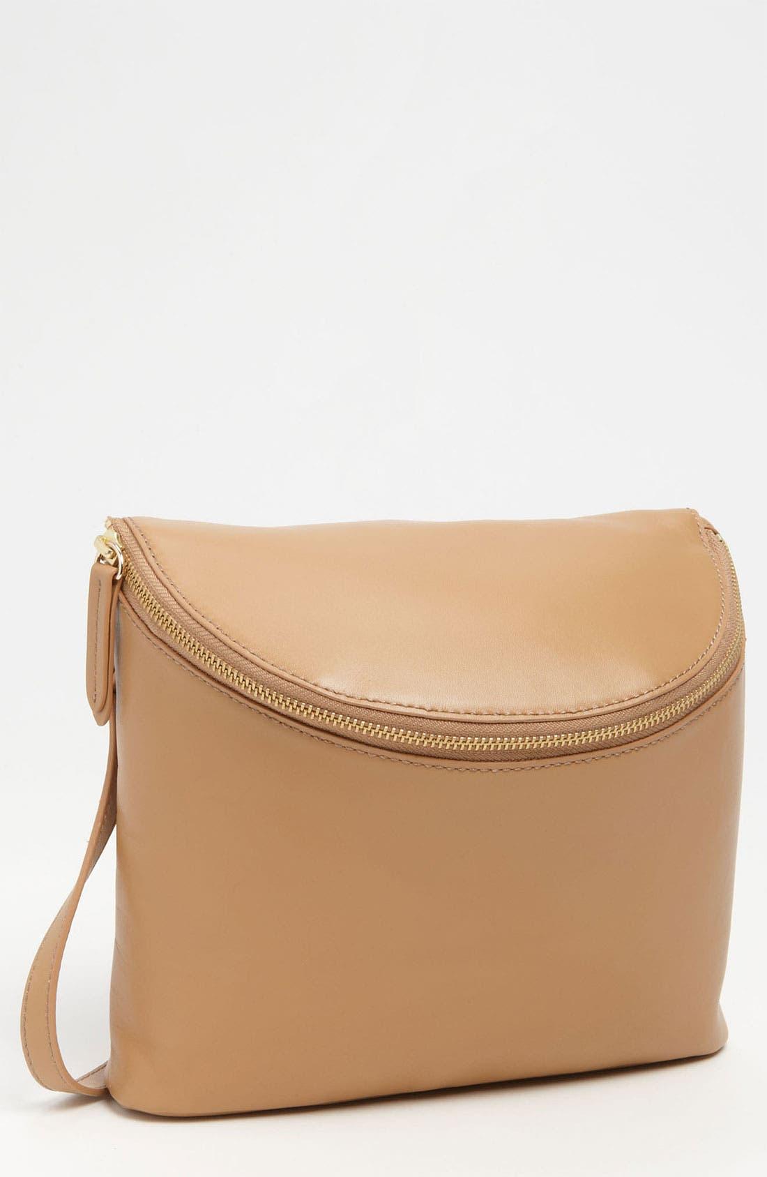 Main Image - Halogen® 'Mia' Leather Crossbody Bucket Bag