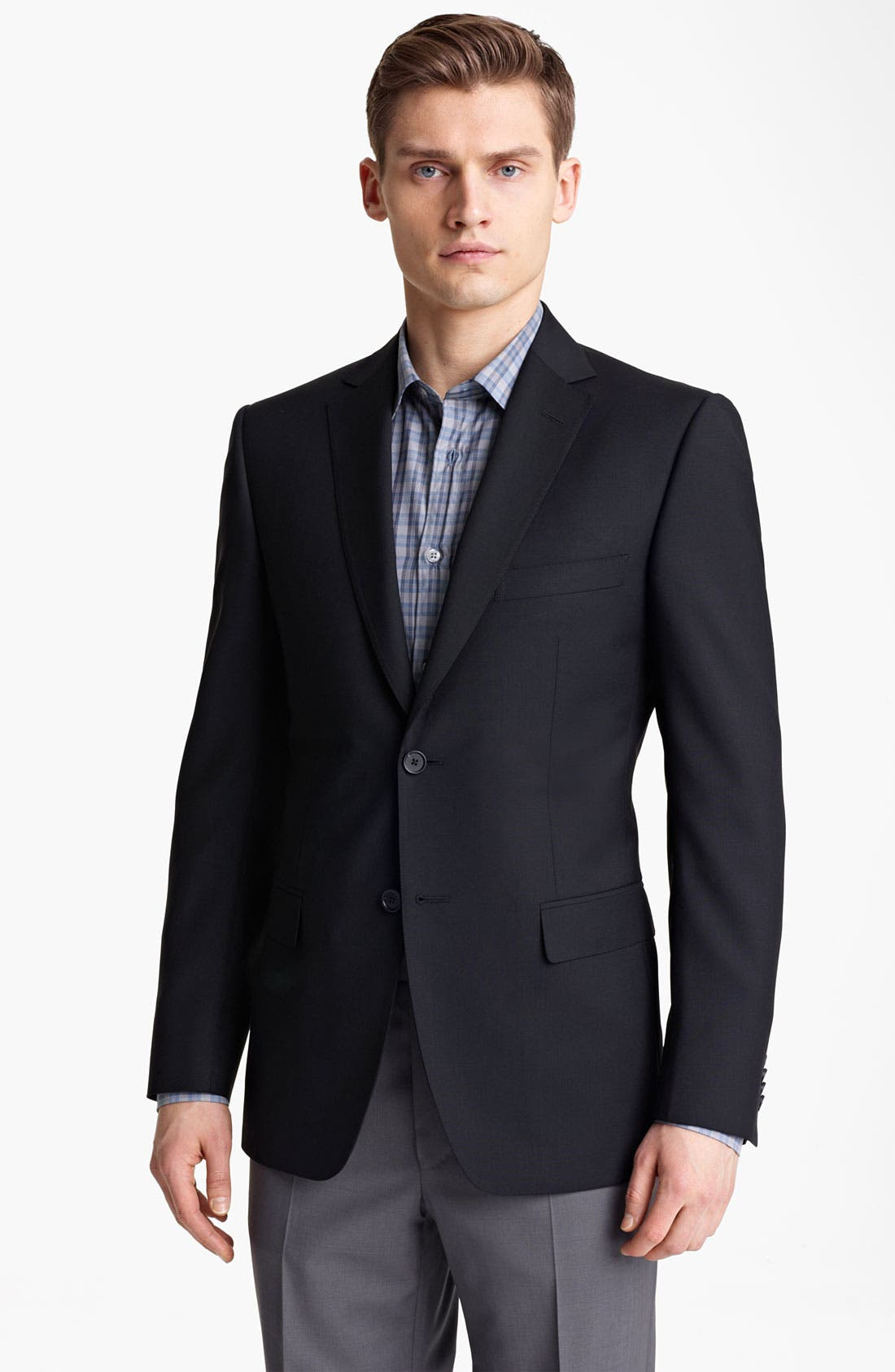 Alternate Image 1 Selected - Z Zegna Trim Fit Wool Blend Blazer