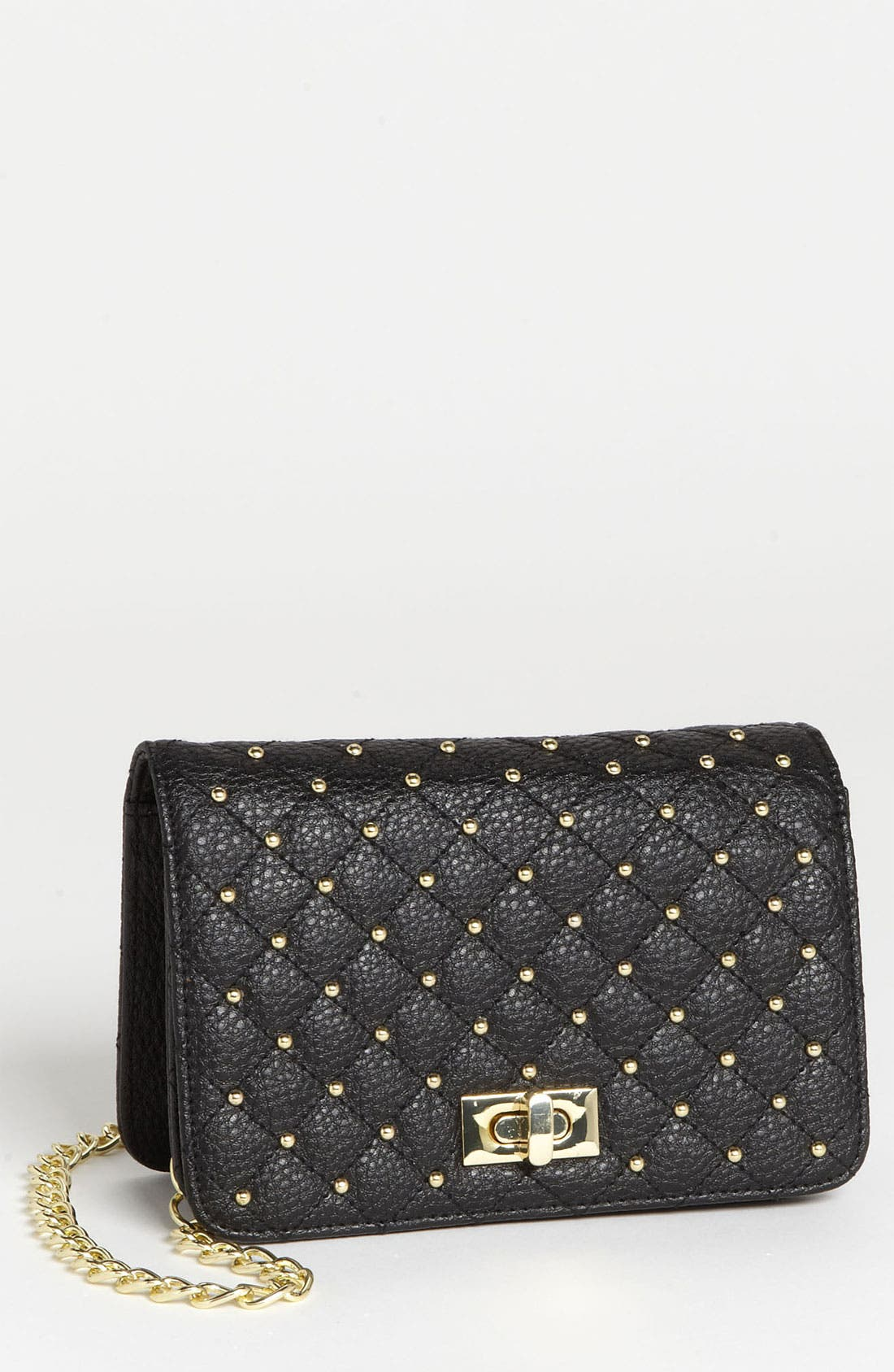 Main Image - Lulu Stud Quilted Crossbody Bag
