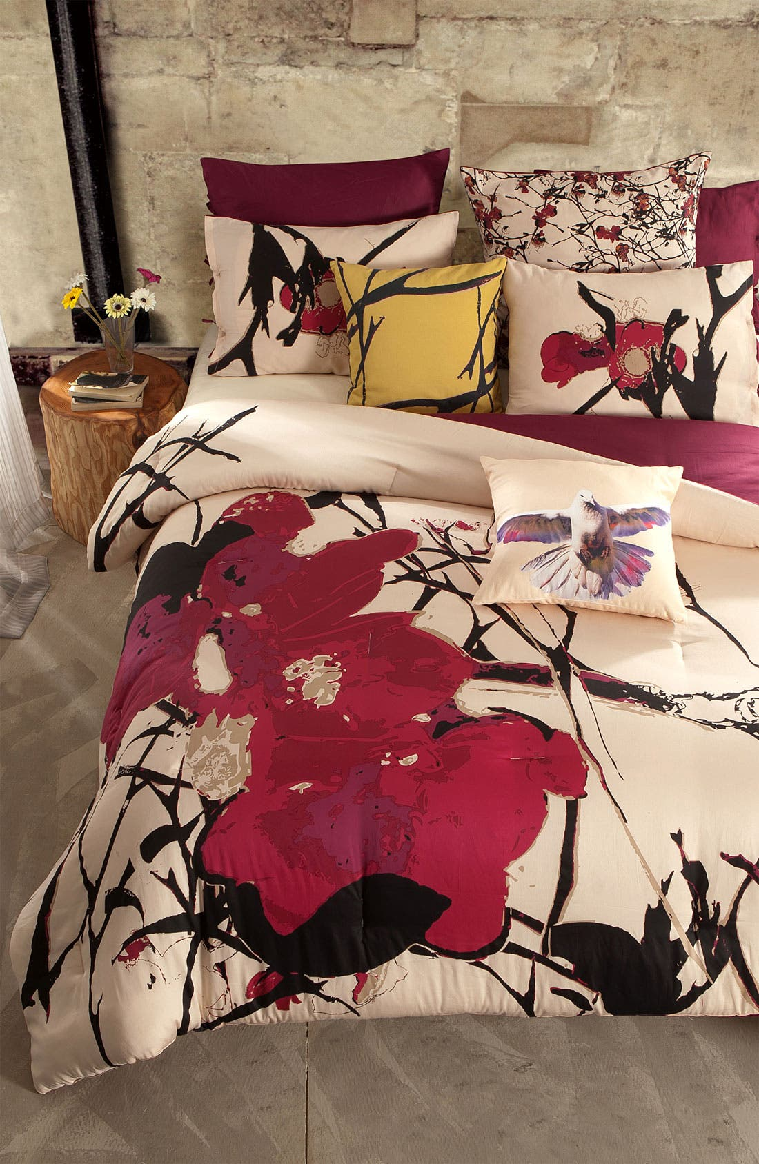 Alternate Image 4  - kensie 'Blossom' 300 Thread Count Duvet Cover Set (Online Only)