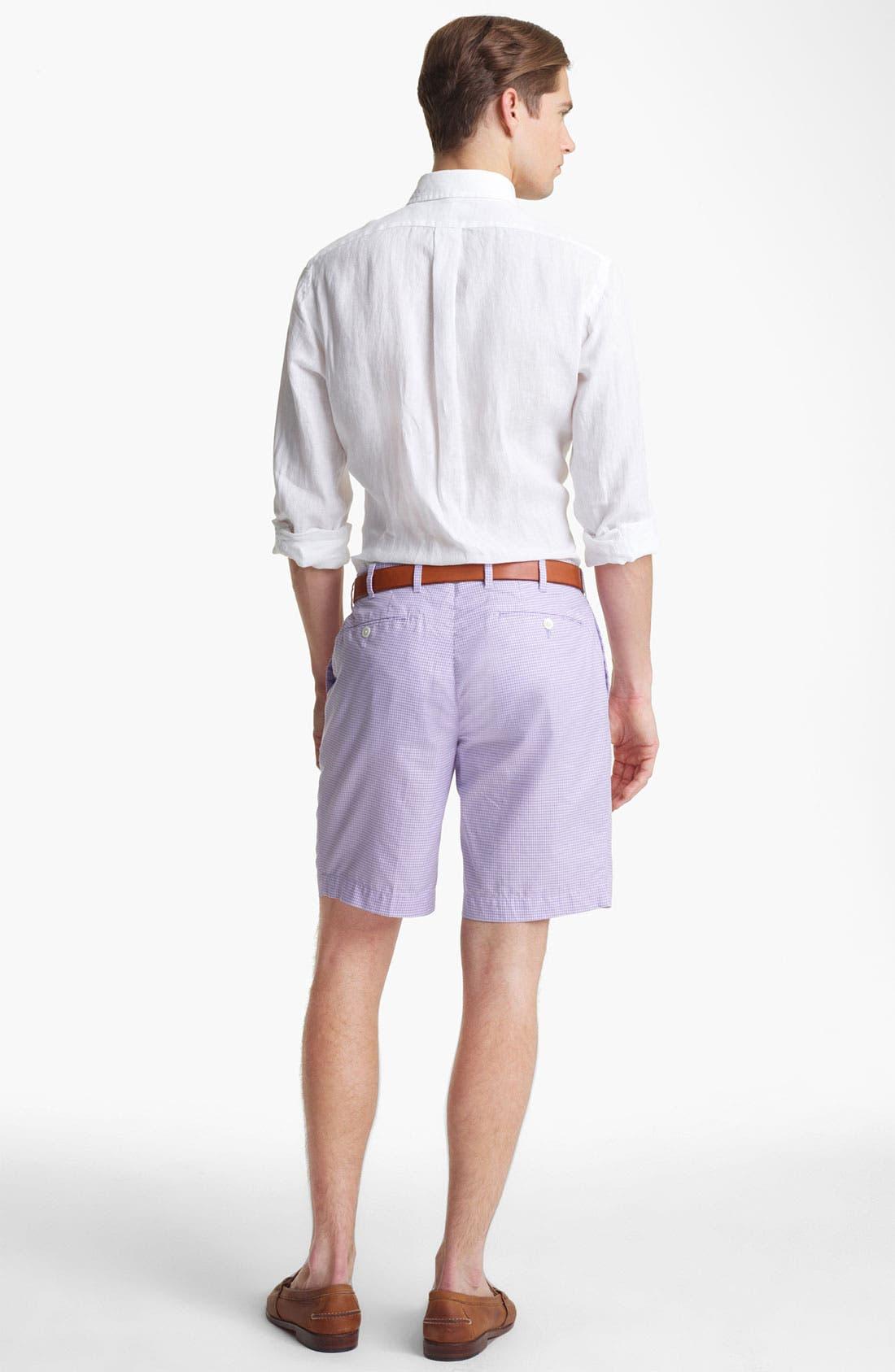 Alternate Image 4  - Polo Ralph Lauren Custom Fit Linen Sport Shirt