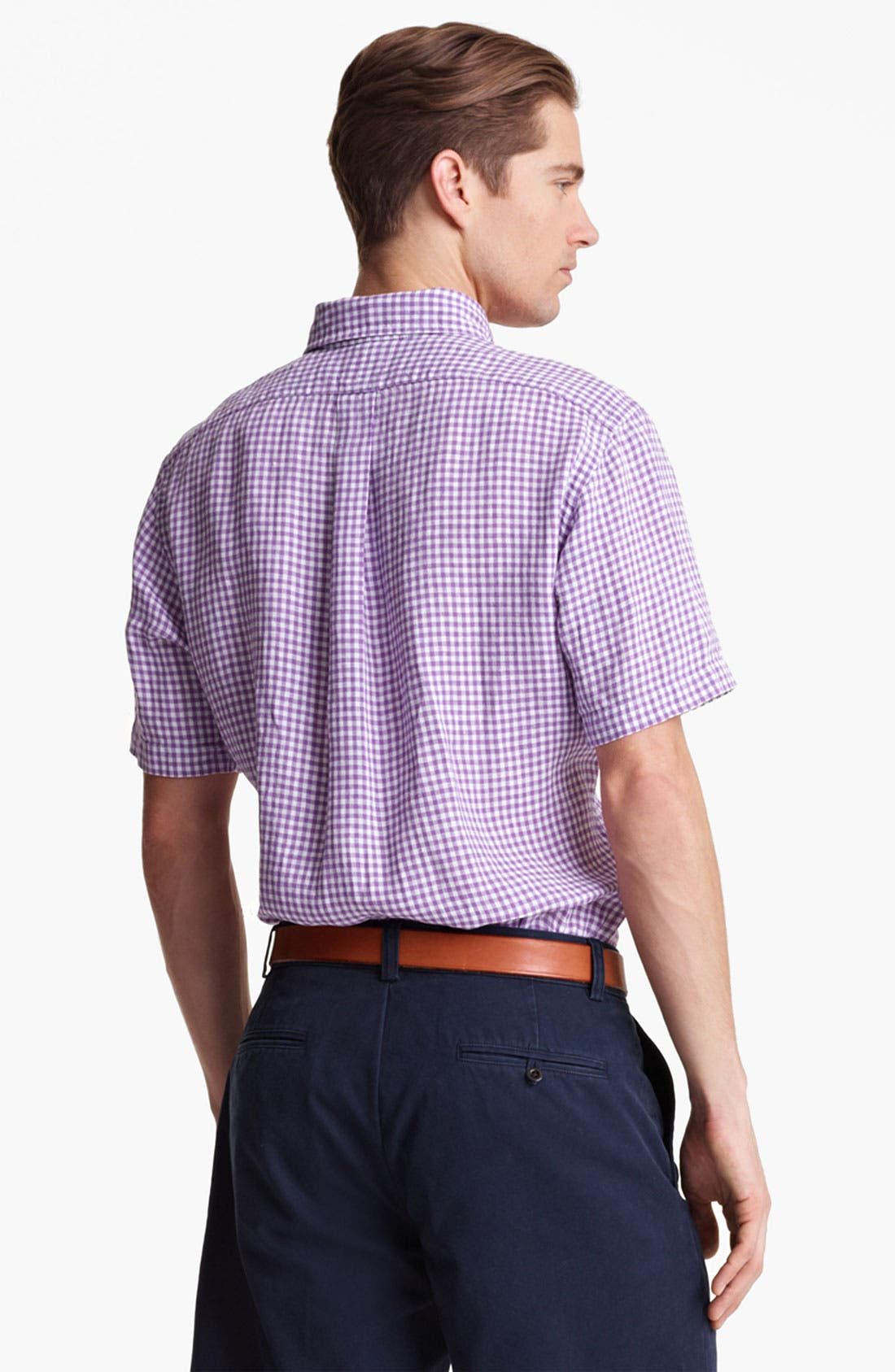 Alternate Image 2  - Polo Ralph Lauren Classic Fit Short Sleeve Linen Sport Shirt