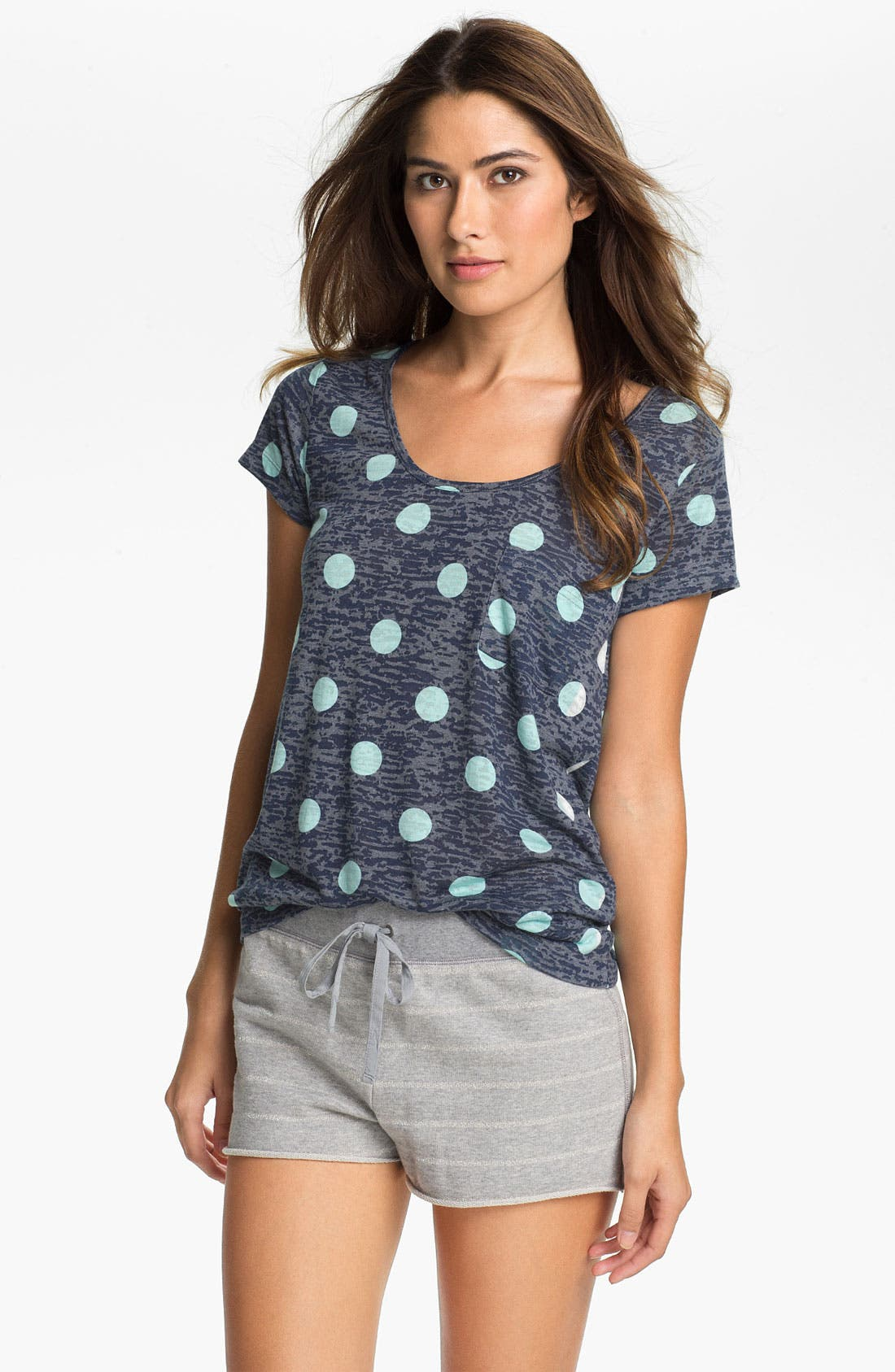 Main Image - Two by Vince Camuto Cap Sleeve Pocket Tee