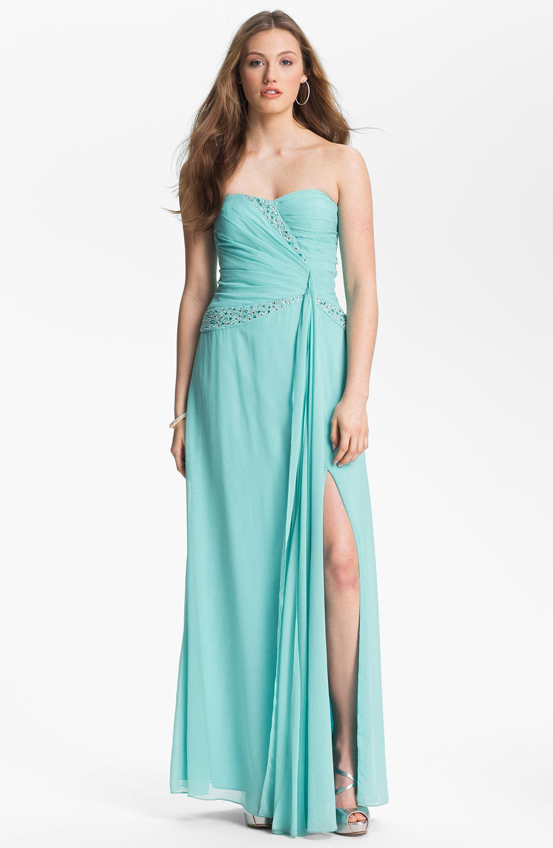 Alternate Image 1 Selected - Hailey by Adrianna Papell Jeweled Chiffon Dress