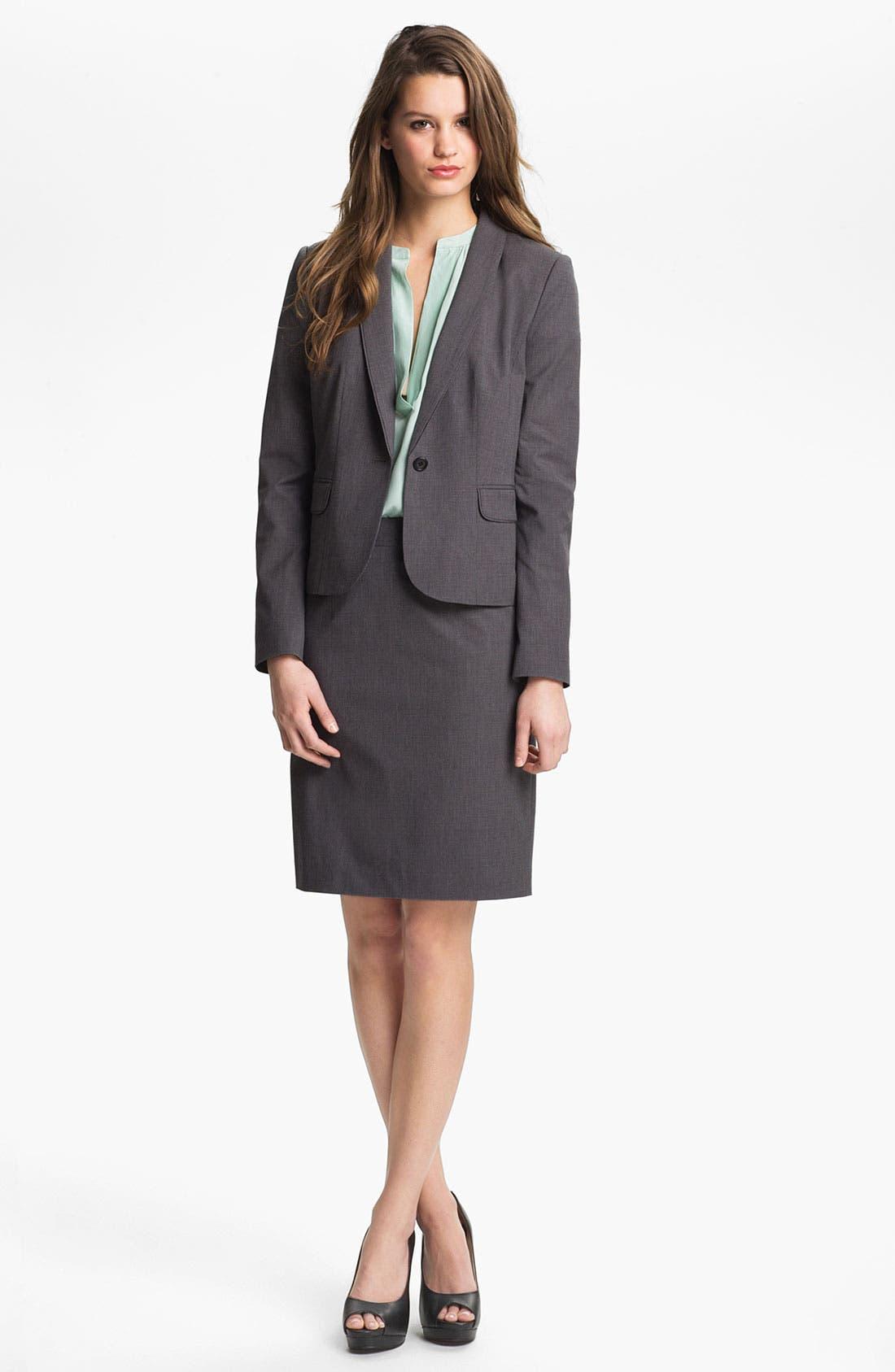 Alternate Image 4  - Halogen® Mini Check Skirt