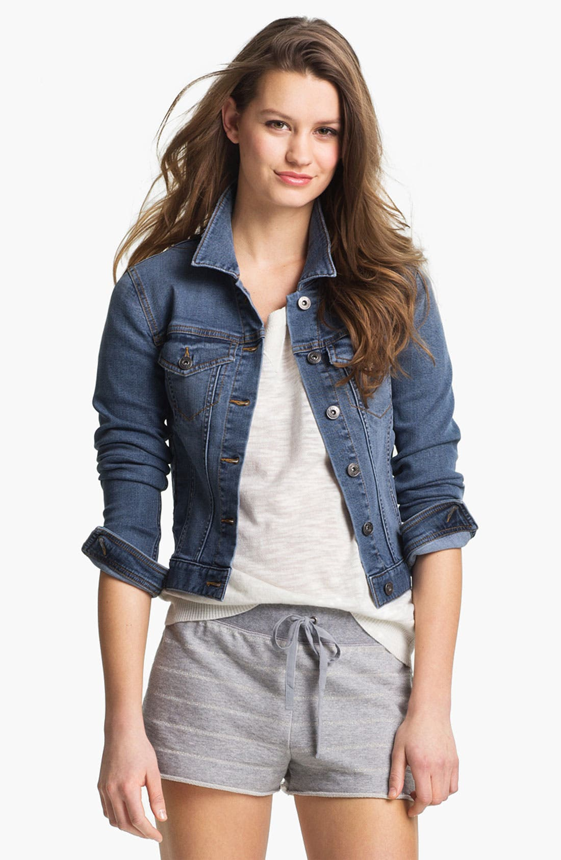 Alternate Image 2  - Two by Vince Camuto Jean Jacket (Regular & Petite)