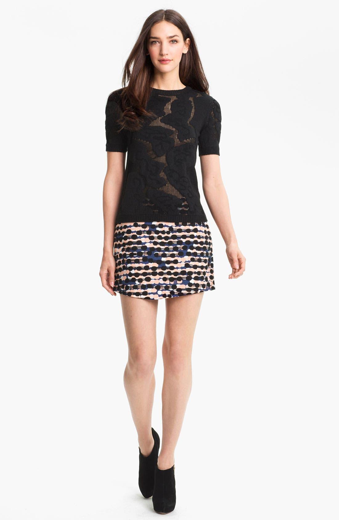 Alternate Image 4  - Diane von Furstenberg 'Nelly' Print Miniskirt