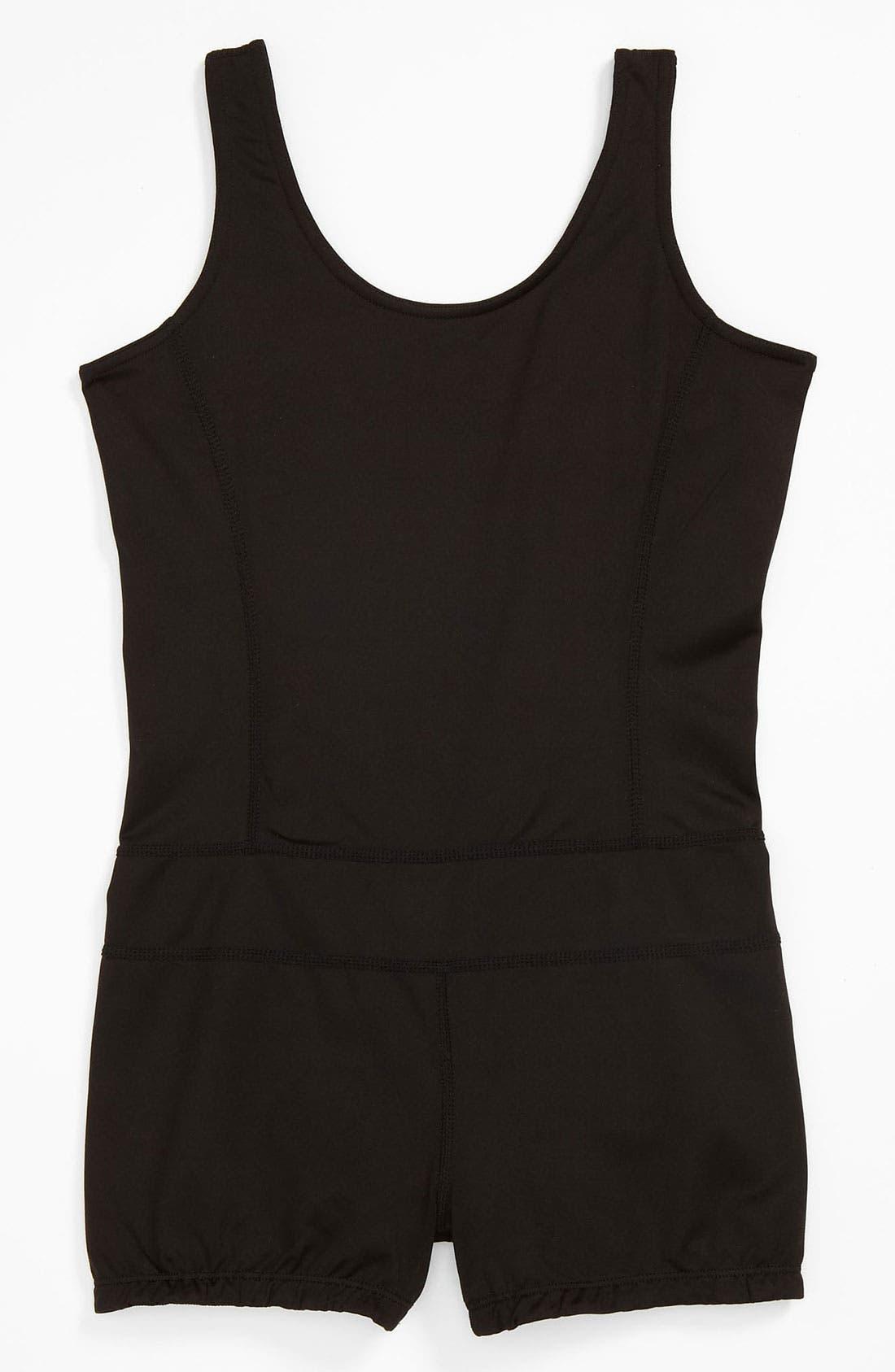 Alternate Image 1 Selected - Limeapple Gym Short Suit (Little Girls & Big Girls)