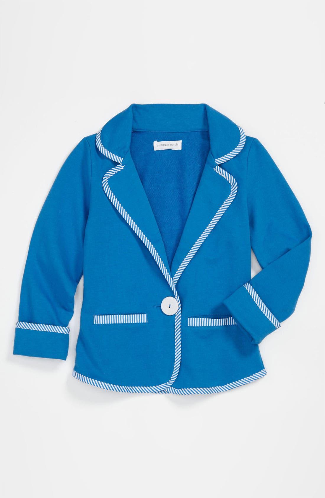 Main Image - Pumpkin Patch 'Lagoon' Knit Blazer (Little Girls & Big Girls)