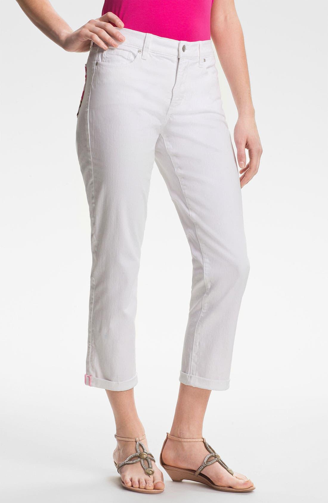 Main Image - NYDJ 'Kendall' Cuffed Stretch Crop Jeans (Petite)