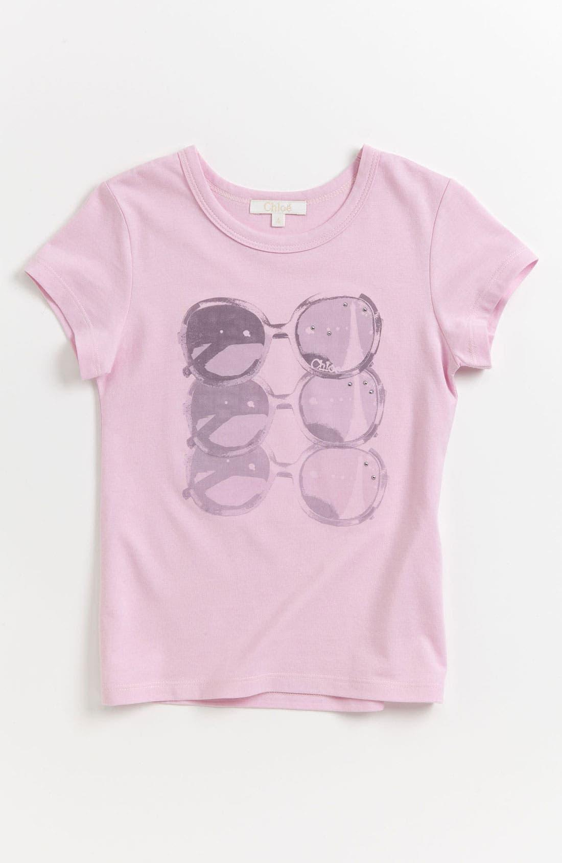 Alternate Image 1 Selected - Chloé 'Sunglasses' Tee (Toddler, Little Girls & Big Girls)