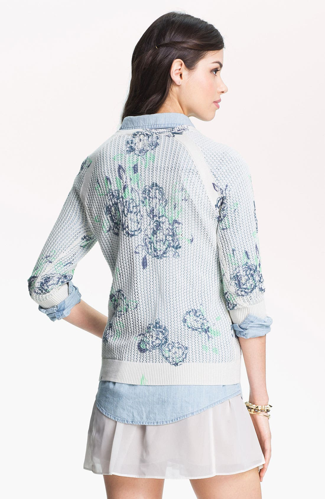 Floral Print Sweater,                             Alternate thumbnail 2, color,                             Float Floral Ivory