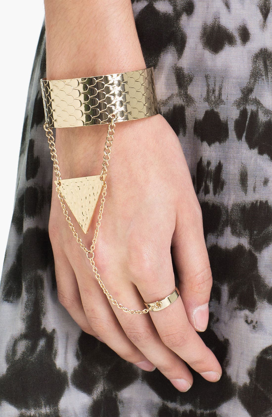 Triangle Hand Chain,                         Main,                         color, Gold