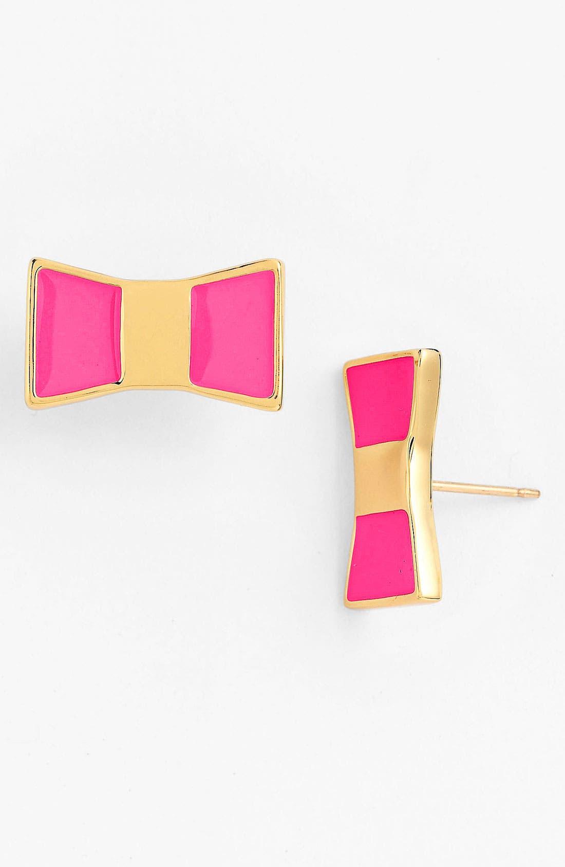 Main Image - kate spade new york 'bow shoppe' stud earrings