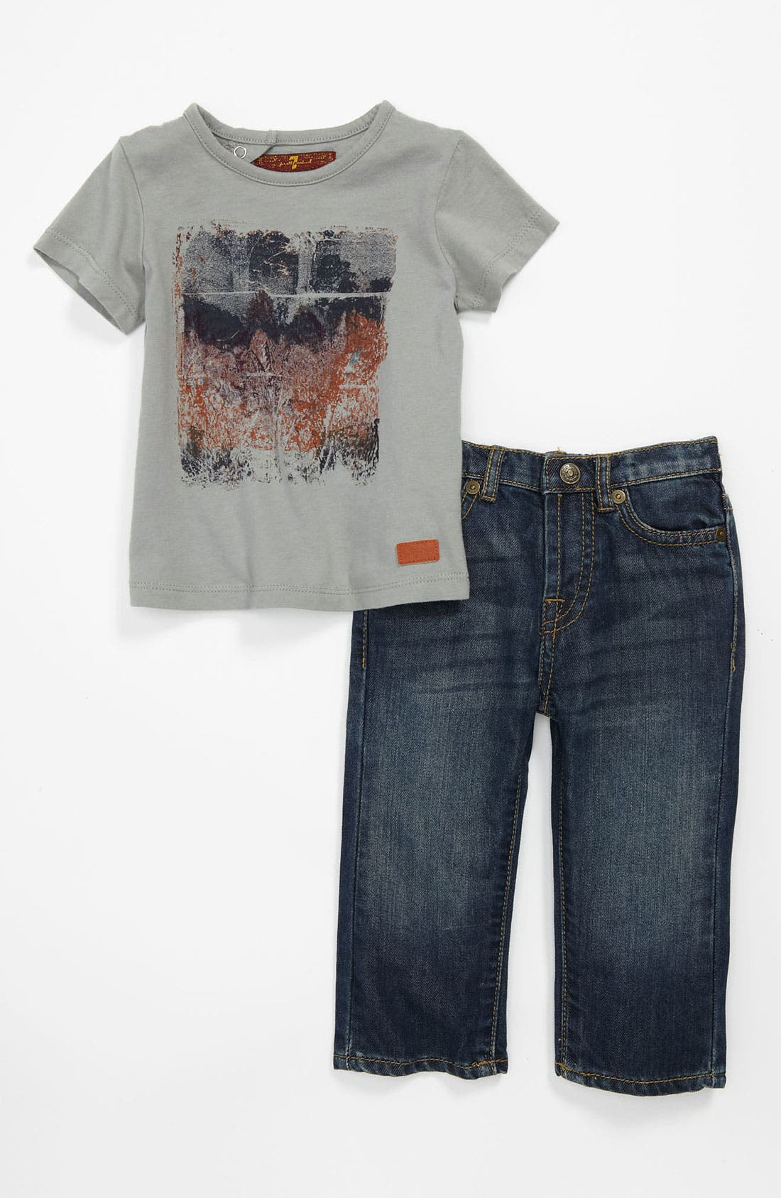 Alternate Image 1 Selected - 7 For All Mankind® 'Photo Real' T-Shirt & Jeans (Infant)