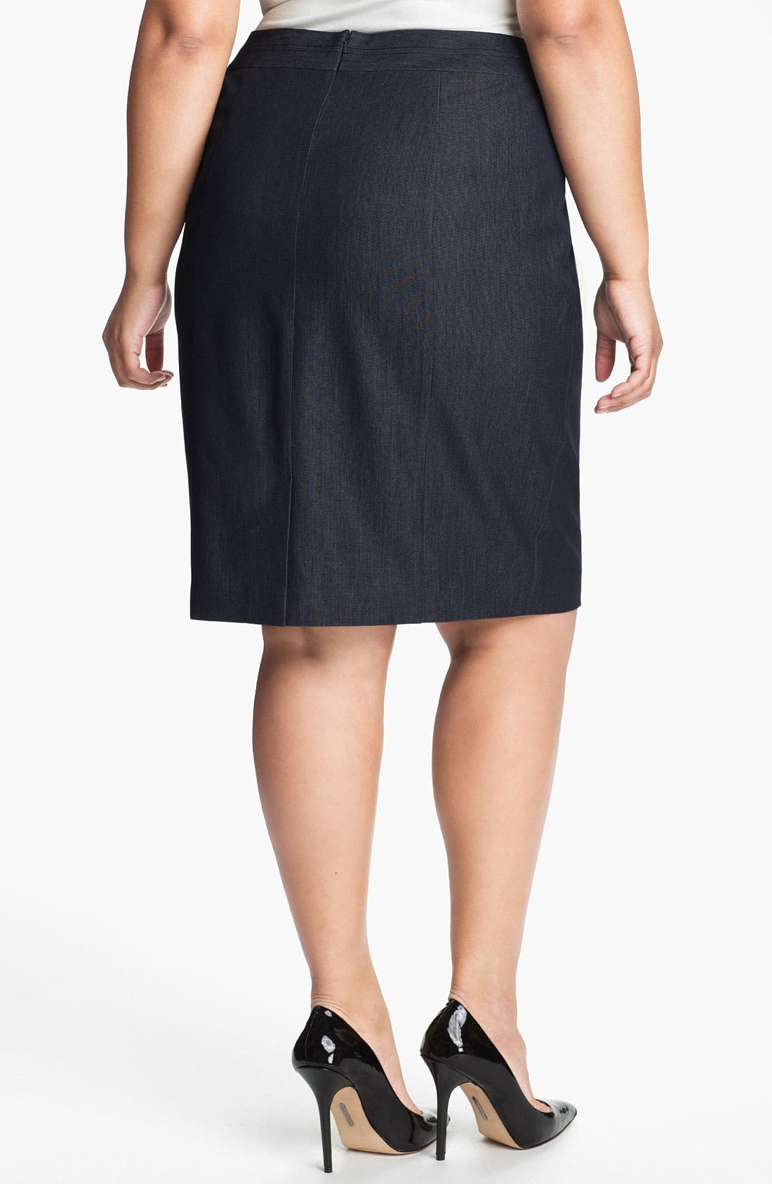 Alternate Image 2  - Sejour Seamed Suit Skirt (Plus)