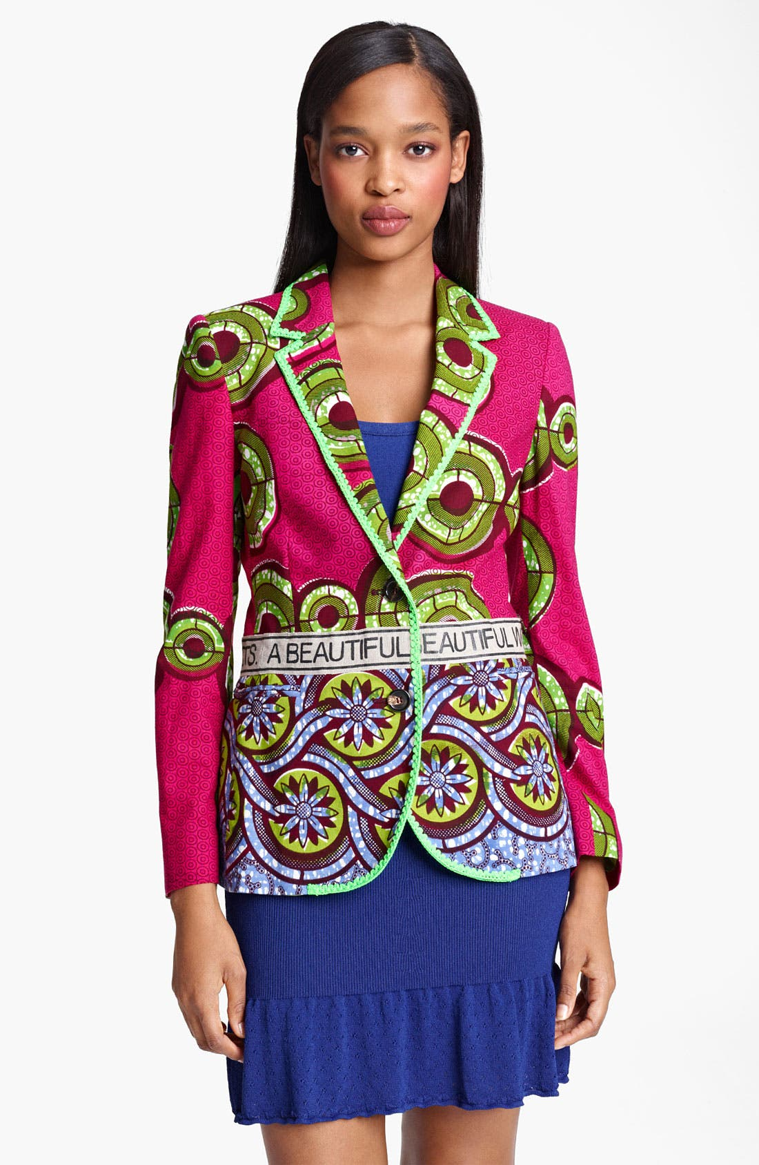 Main Image - Moschino Cheap & Chic Floral Print Two Button Jacket