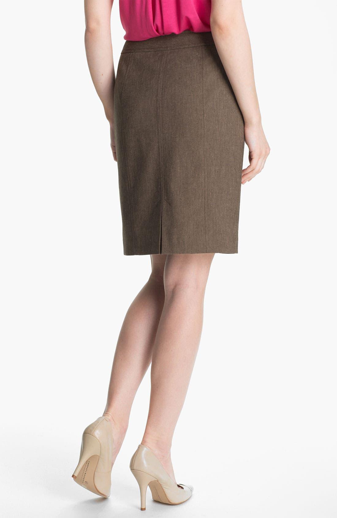 Alternate Image 2  - Halogen® 'Subtle Stretch' Skirt