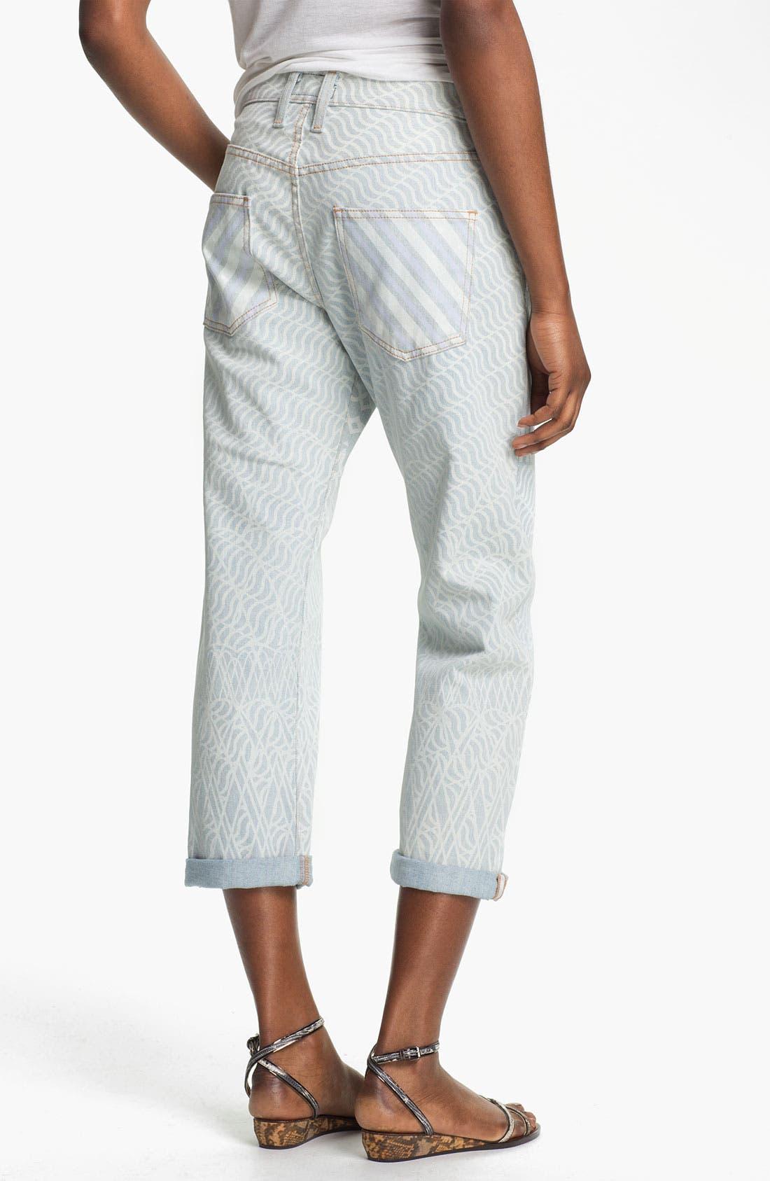 Alternate Image 2  - Mary Katrantzou Current/Elliott 'The Boyfriend' Print Jeans