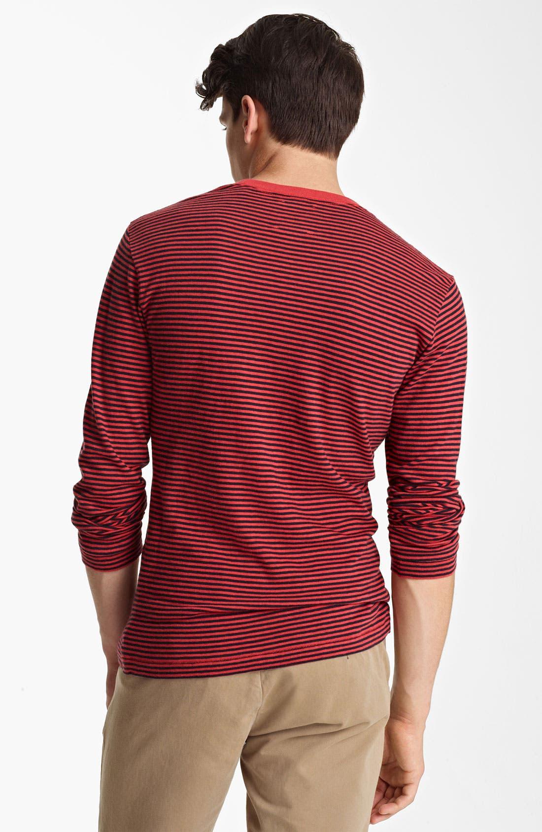 Alternate Image 2  - Billy Reid Stripe Long Sleeve T-Shirt