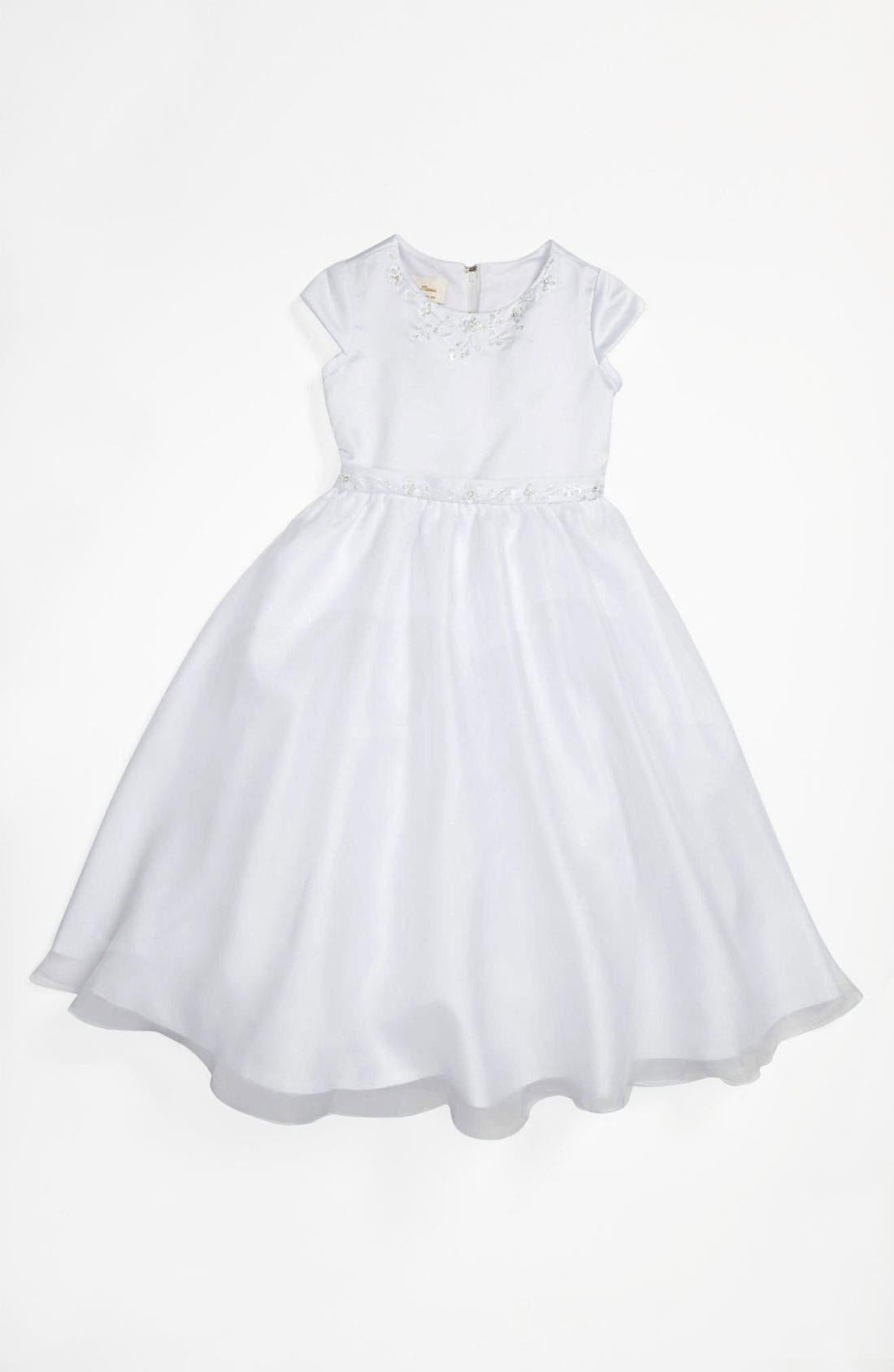 Alternate Image 1 Selected - Lauren Marie Beaded Dress (Little Girls & Big Girls)