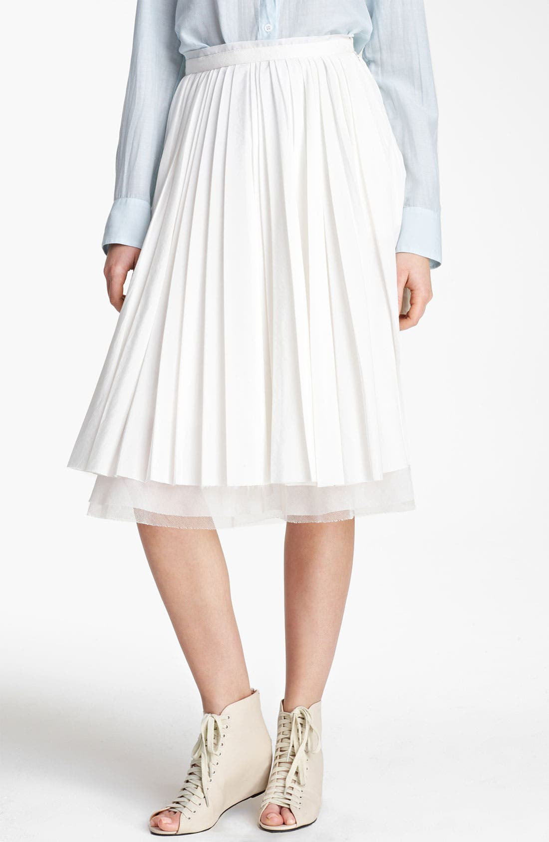 Main Image - Band of Outsiders Pleated Skirt