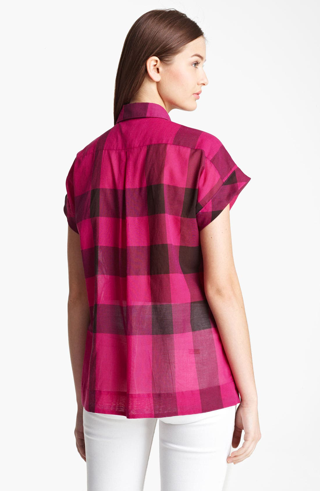 Alternate Image 2  - Burberry Brit Check Tunic Shirt