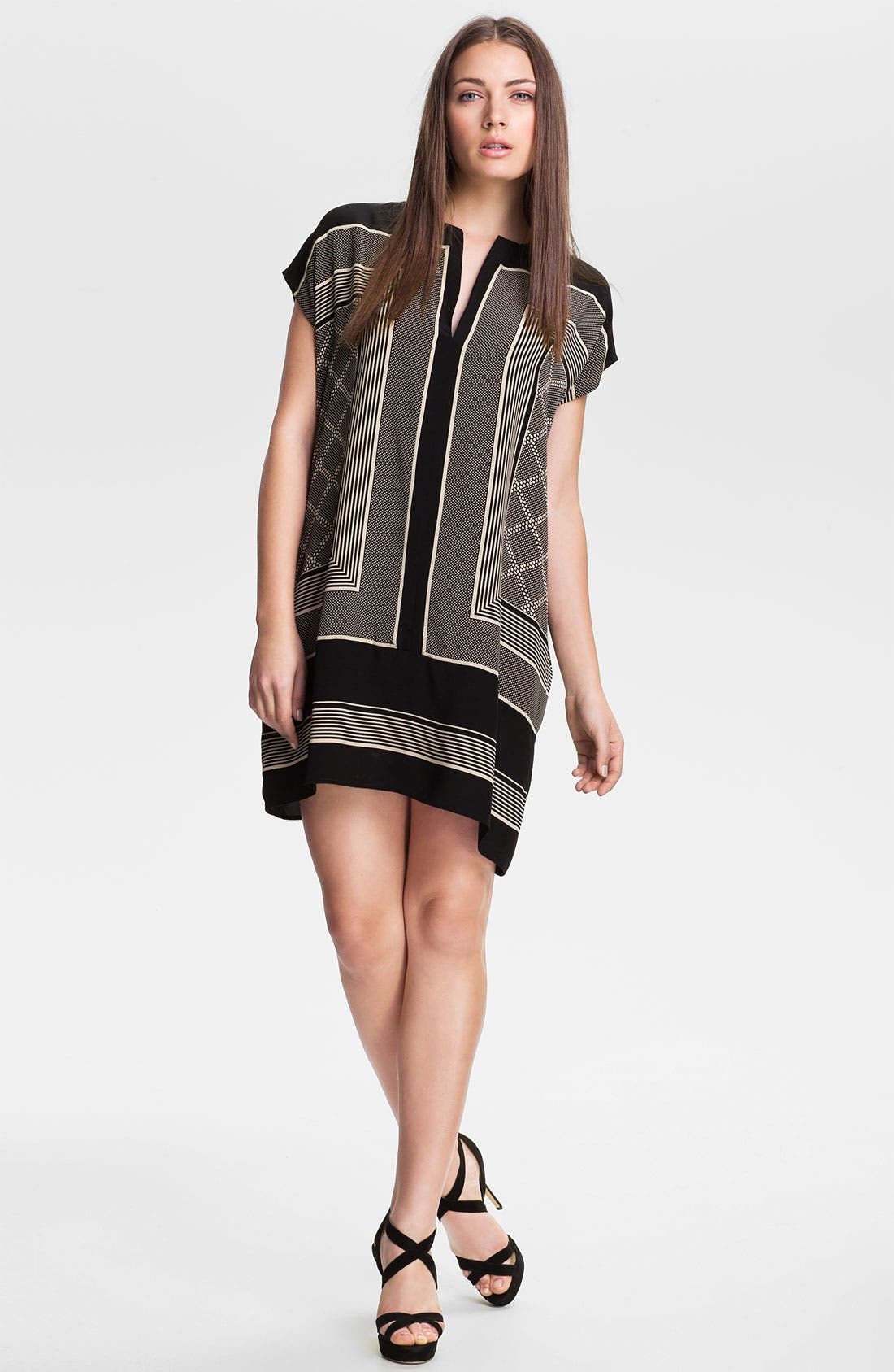 Alternate Image 1 Selected - Vince Scarf Print Shift Dress