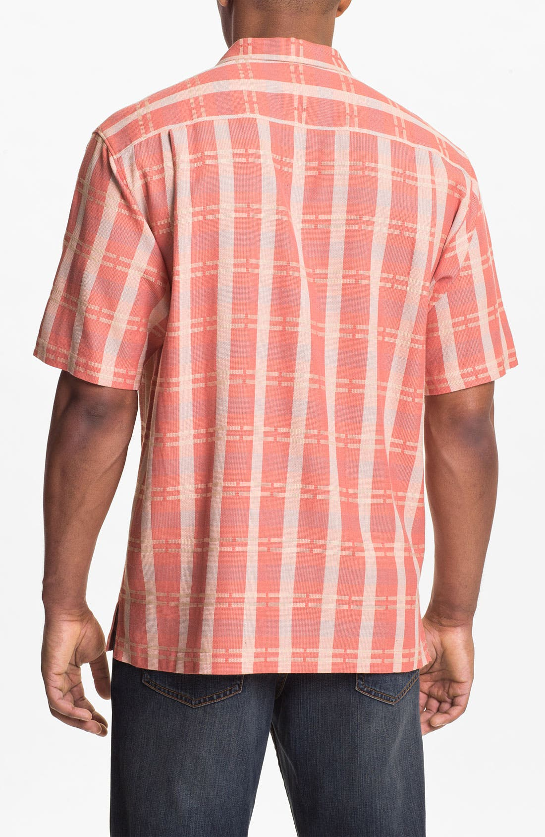 Alternate Image 2  - Tommy Bahama 'Plaid Modern' Silk & Cotton Sport Shirt