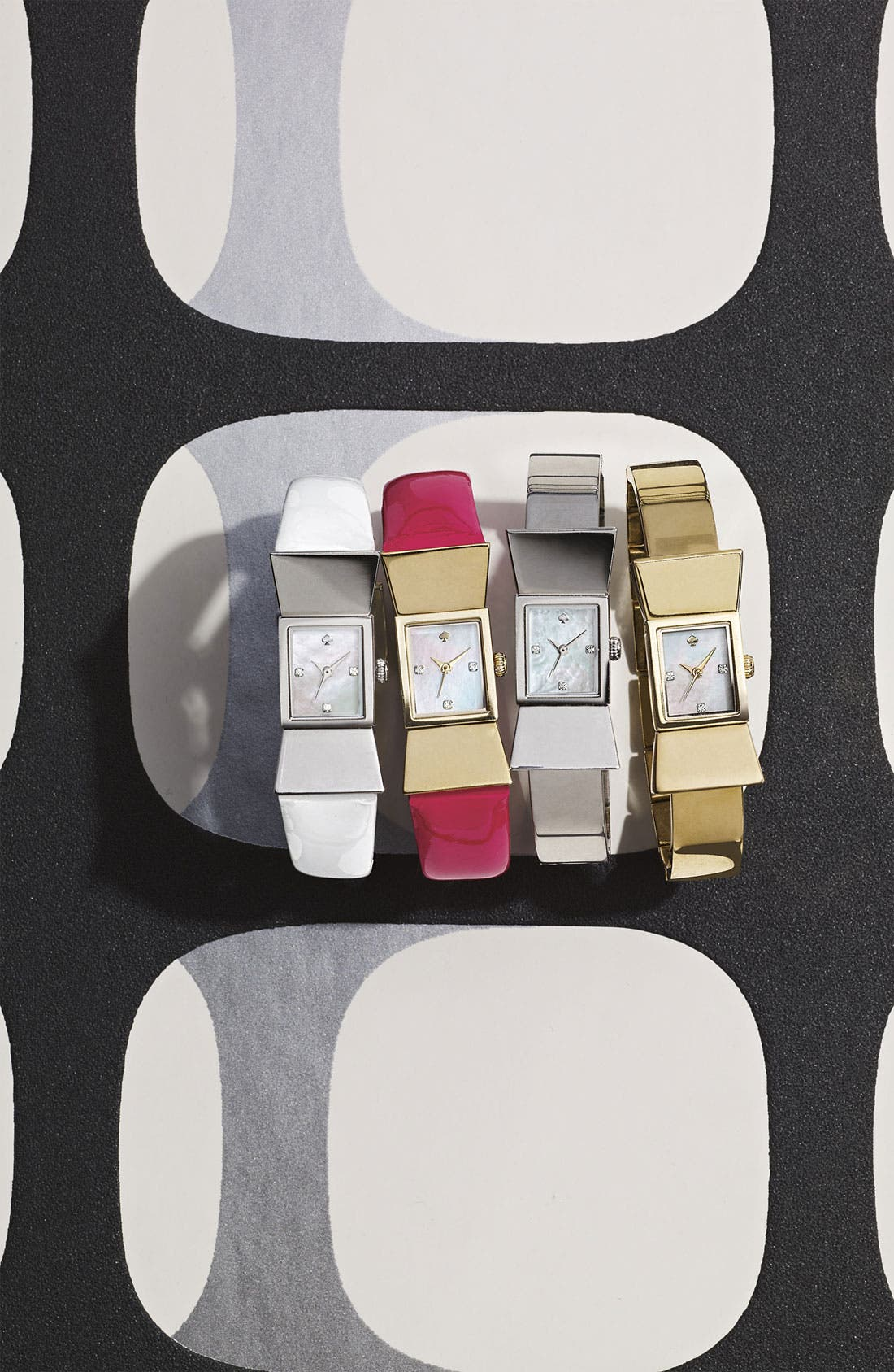 Alternate Image 3  - kate spade new york square leather strap watch, 18mm x 39mm