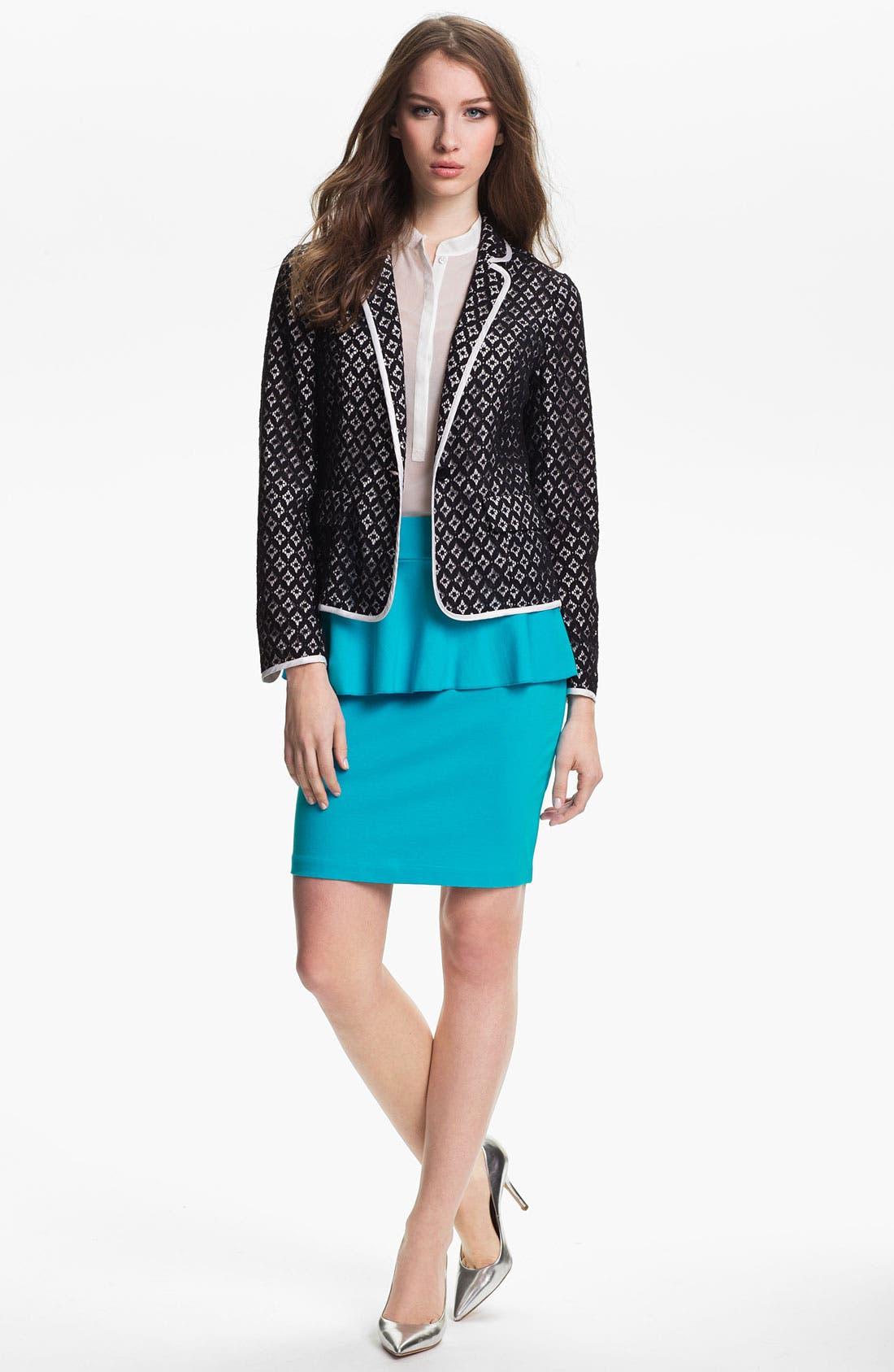 Alternate Image 4  - Kensie Peplum Ponte Skirt