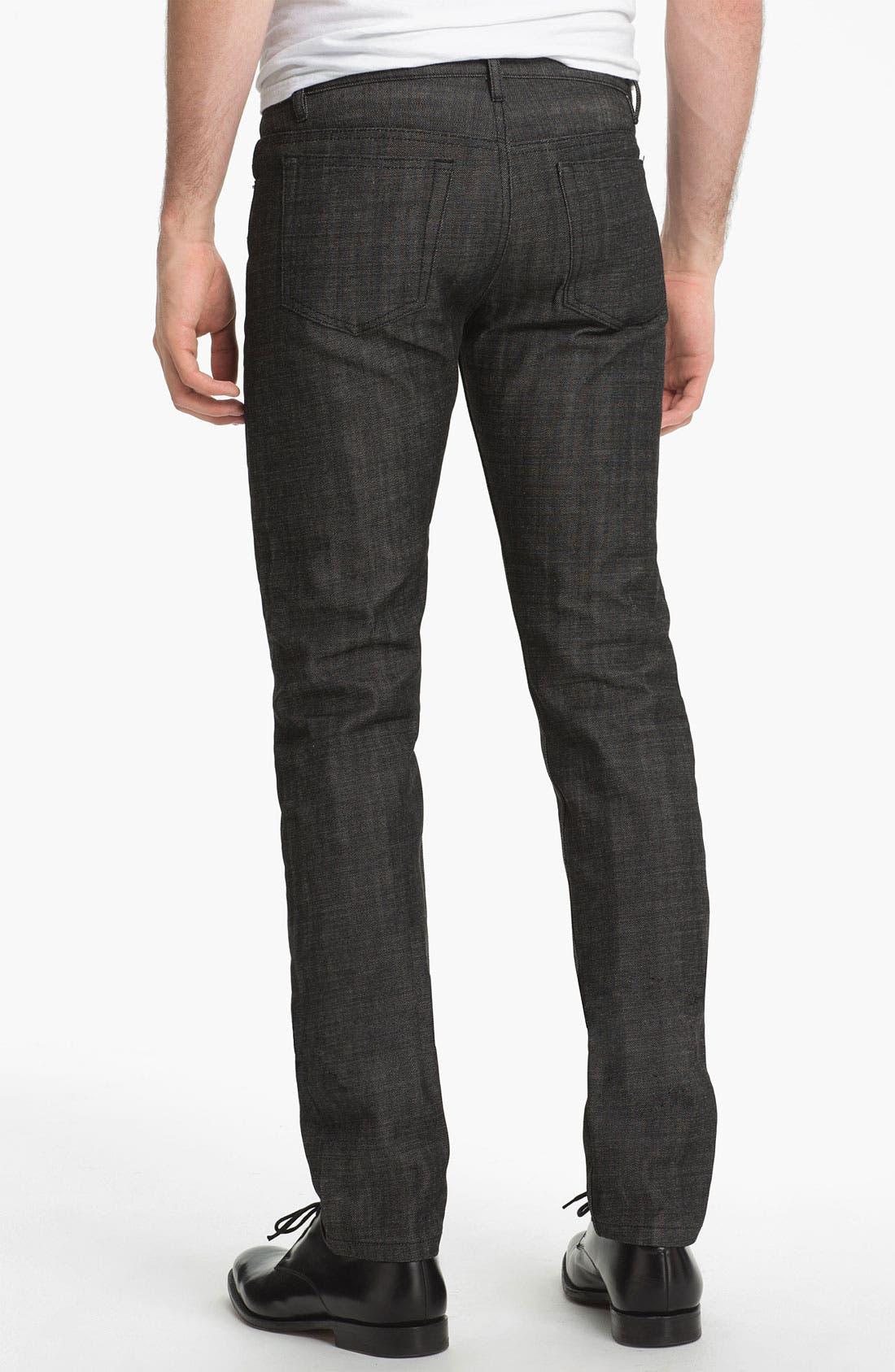 Alternate Image 2  - A.P.C. 'Petit Standard' Slim Leg Jeans (Black) (Online Only)