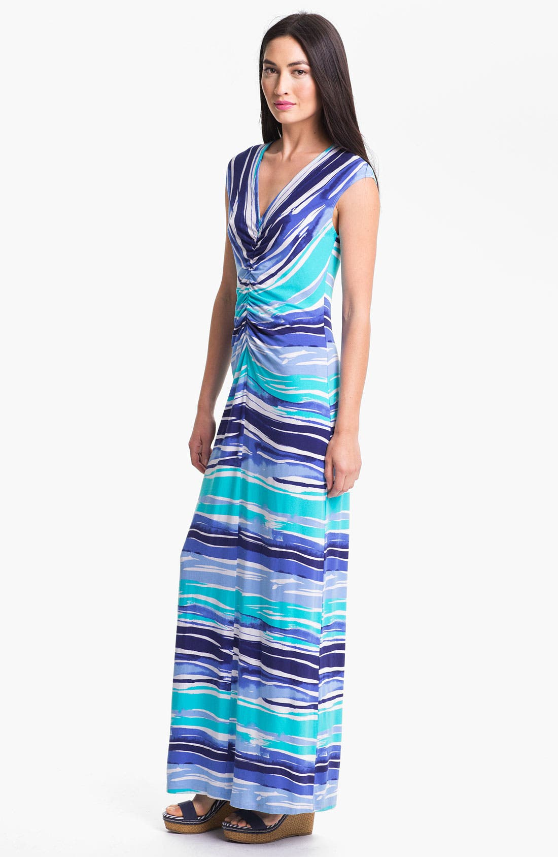 'Rising Tide' Maxi Dress,                             Main thumbnail 1, color,                             Blue Atoll