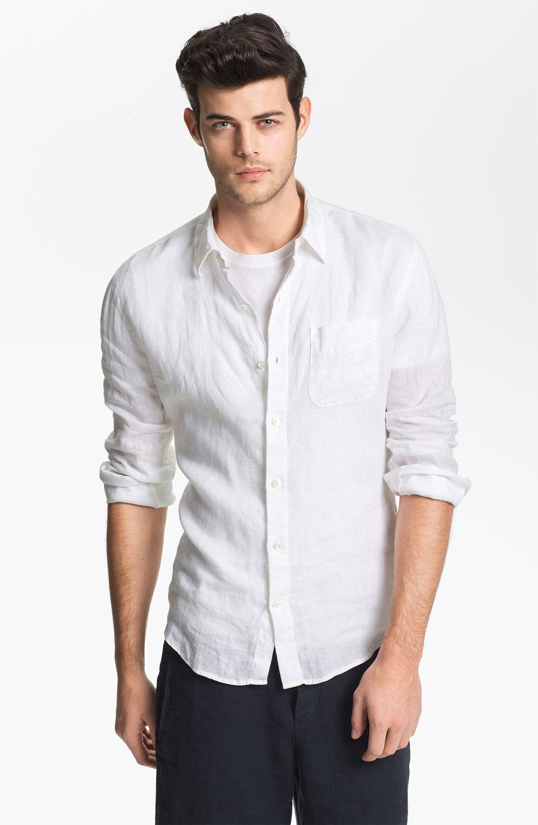 Alternate Image 1 Selected - Vince Classic Fit Linen Sport Shirt