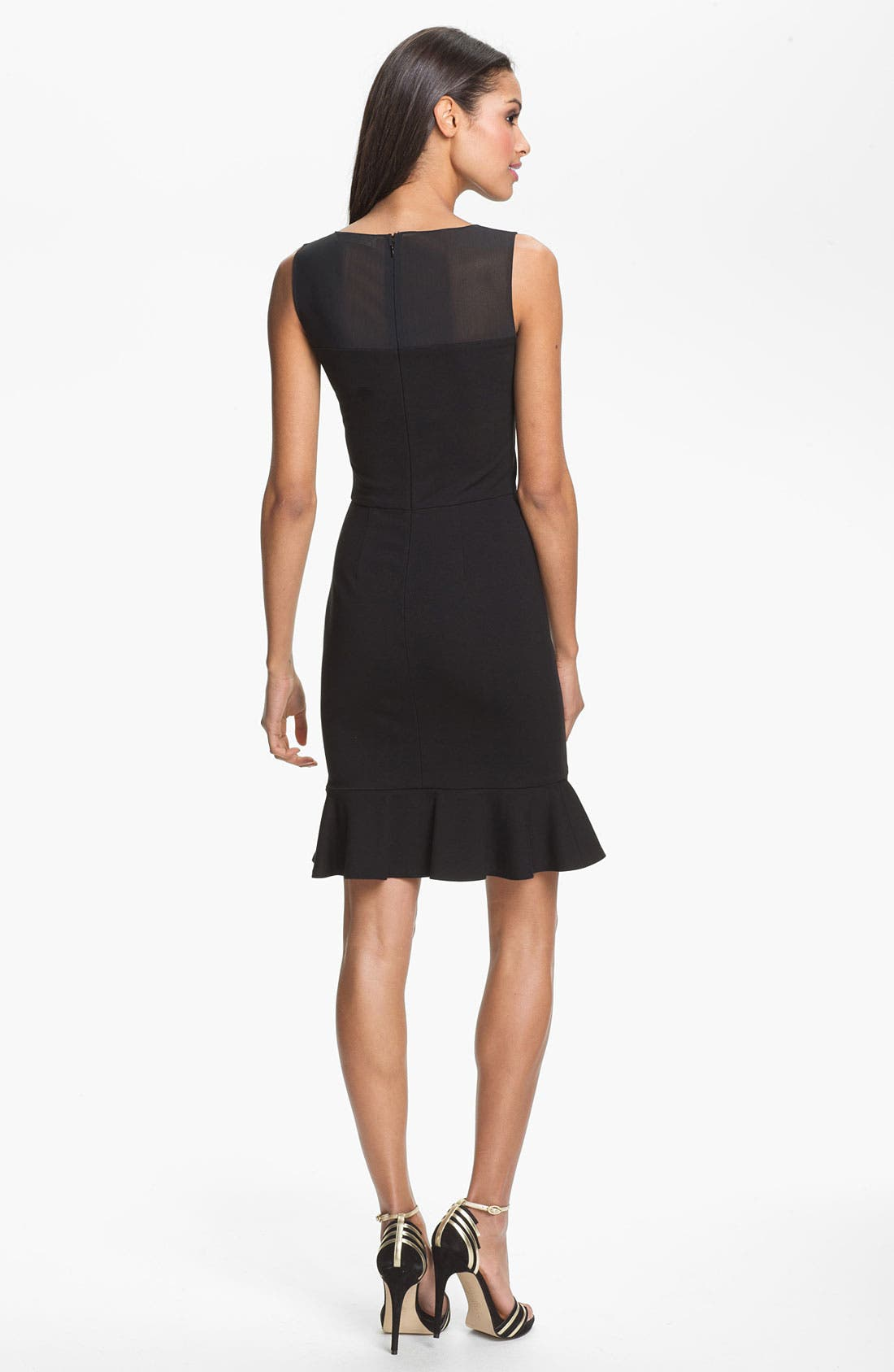Alternate Image 2  - ERIN erin fetherston Mesh Yoke Sheath Dress