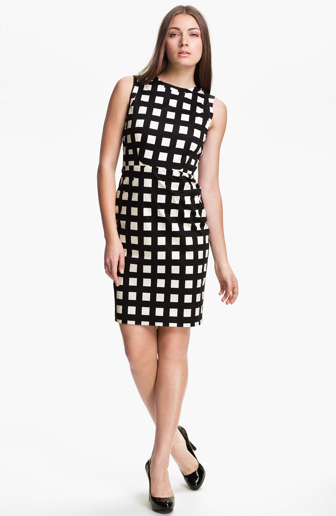 Alternate Image 1 Selected - kate spade new york 'lorelei' stretch cotton sheath dress