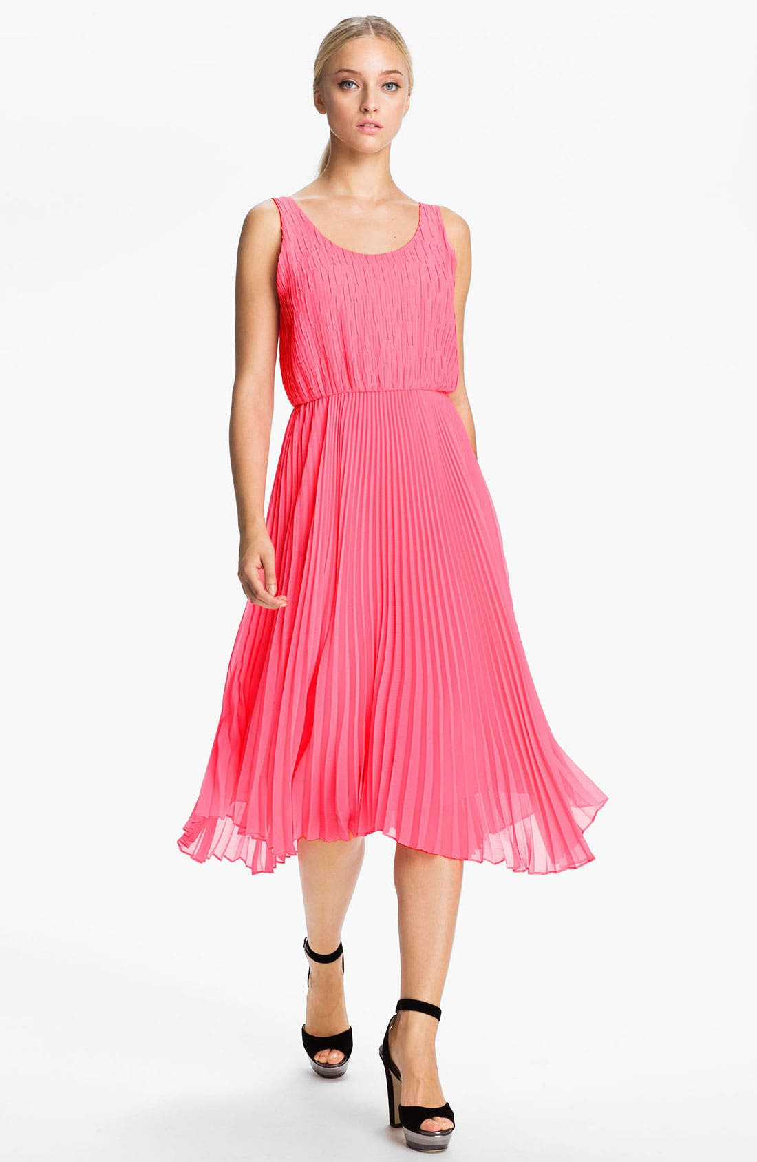 Alternate Image 1 Selected - Alice + Olivia Double Layer Tank Dress
