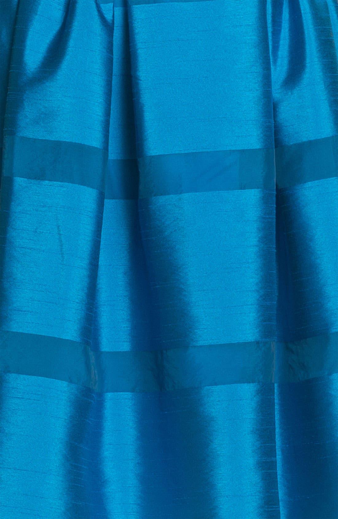 Alternate Image 3  - Taylor Dresses Tonal Stripe Fit & Flare Dress (Regular & Petite)