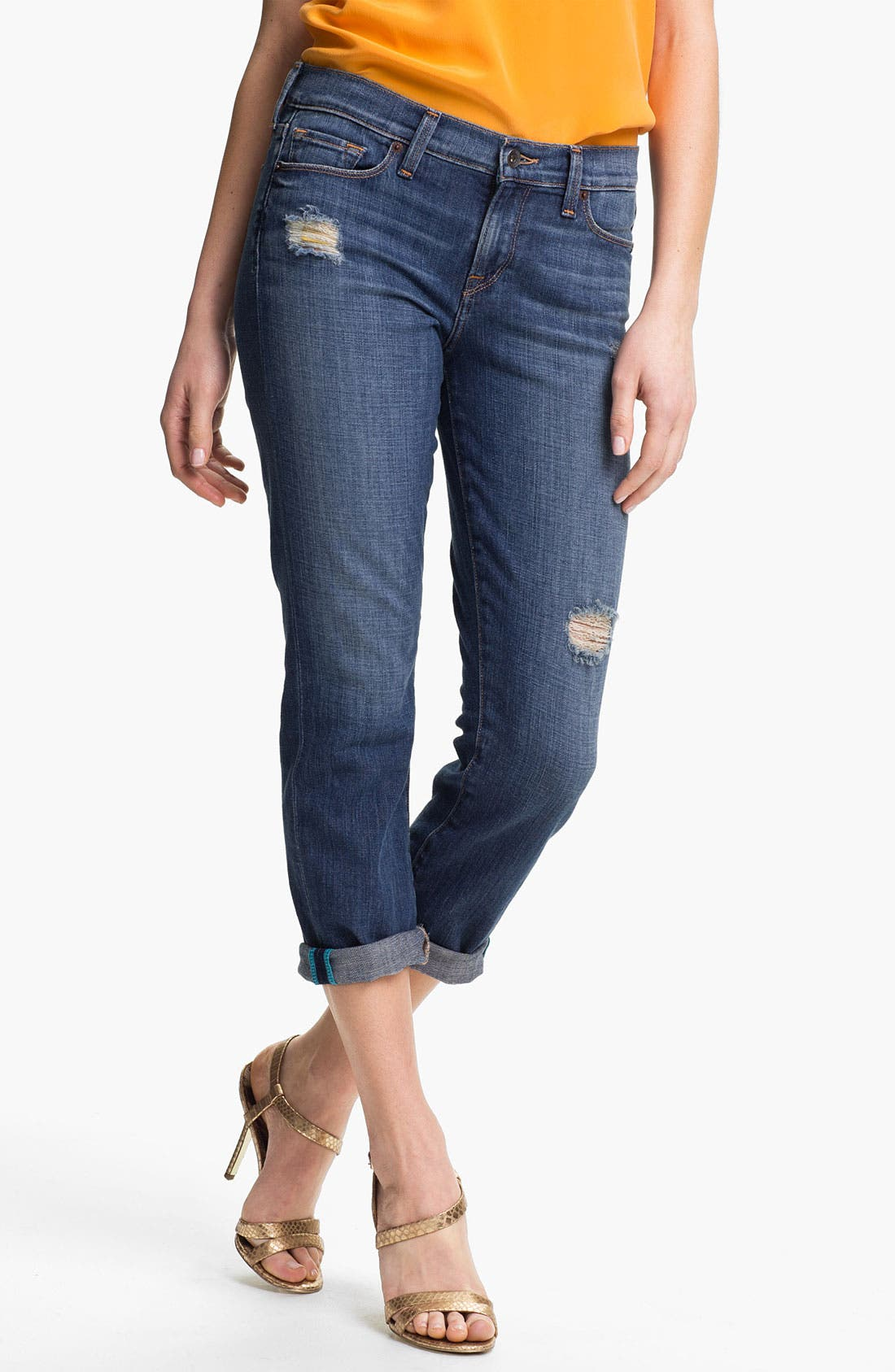 Alternate Image 1 Selected - Lucky Brand Boyfriend Jeans (Chloe)
