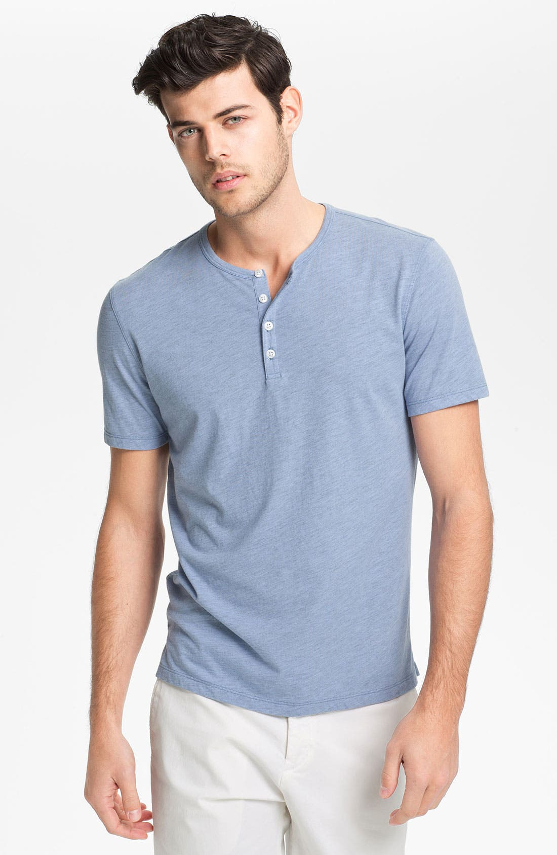 Alternate Image 1 Selected - Vince Short Sleeve Henley T-Shirt