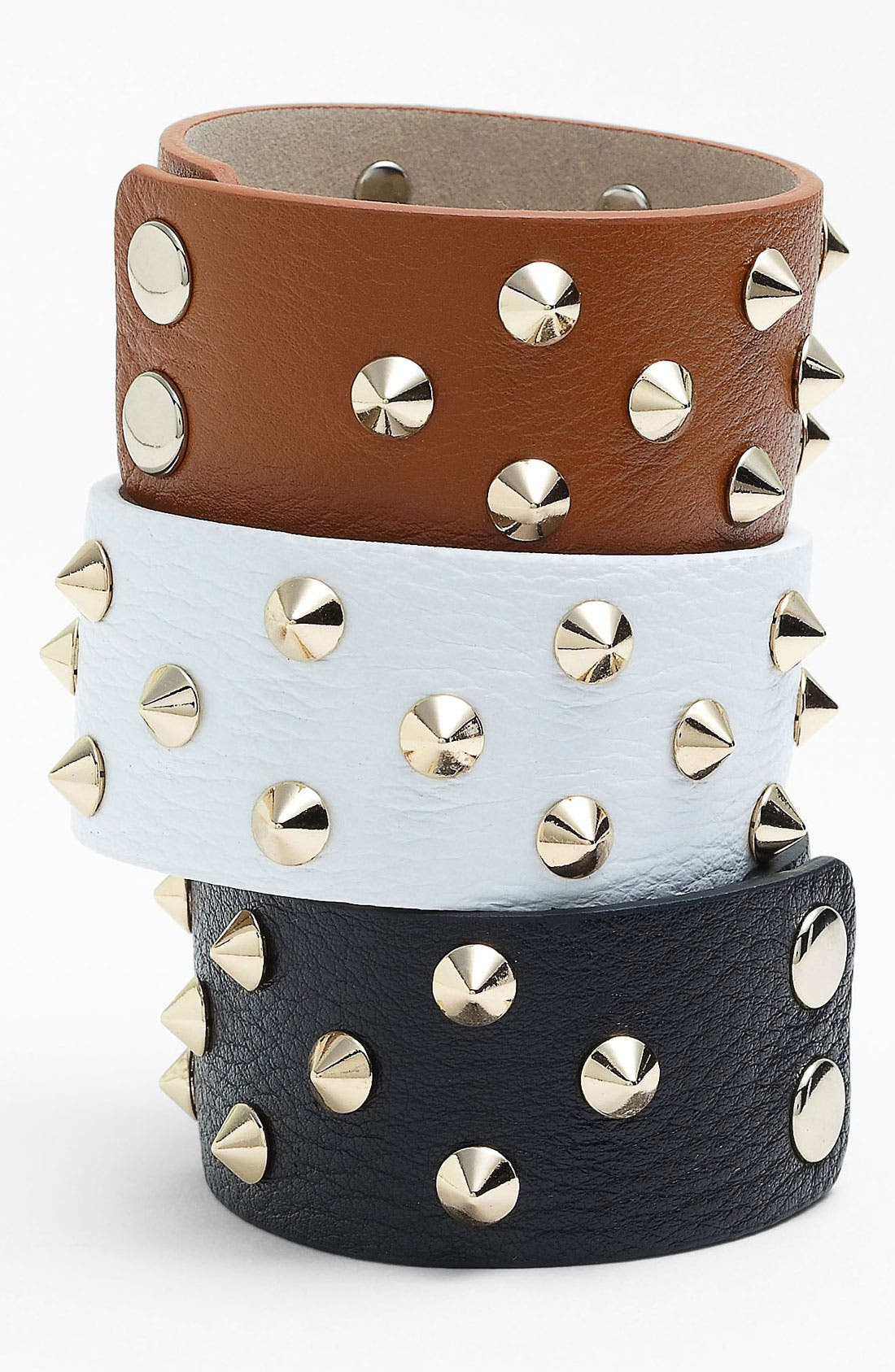 Main Image - Cara Studded Leather Bracelet