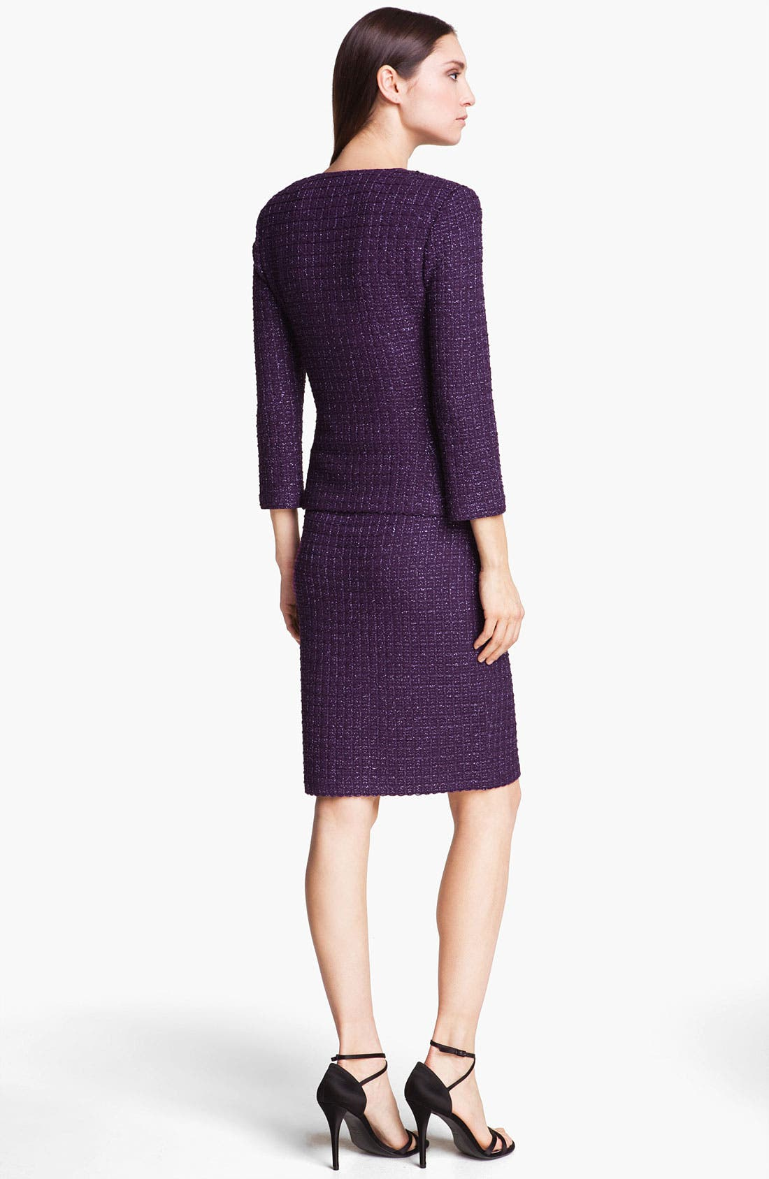 Alternate Image 5  - St. John Collection Shimmer Tweed Pencil Skirt