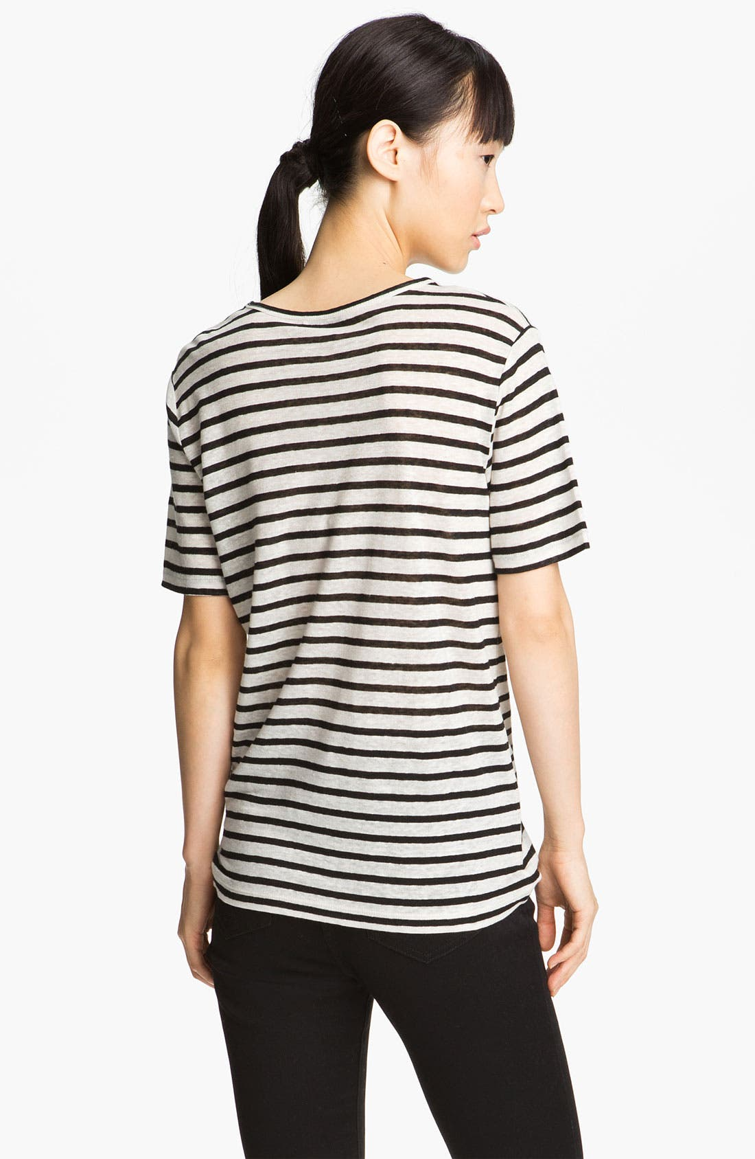 Alternate Image 3  - T by Alexander Wang Stripe Linen Tee
