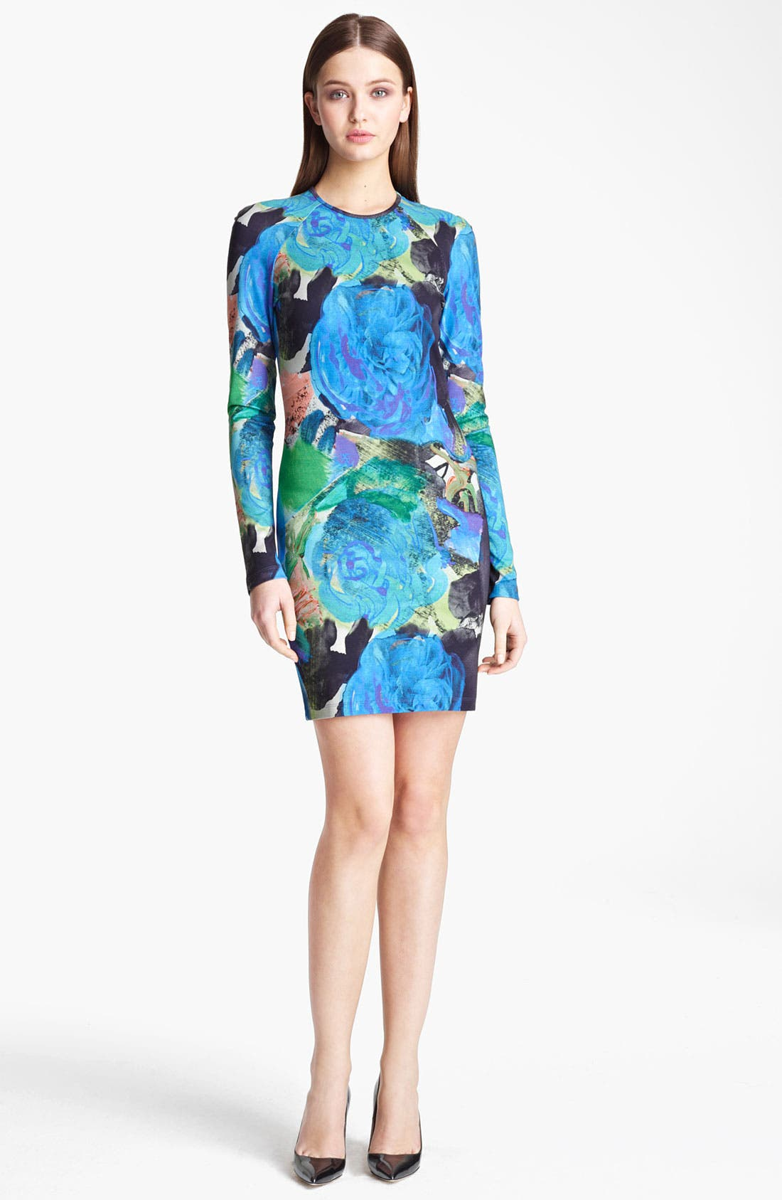 Main Image - Christopher Kane Floral Print Jersey Dress