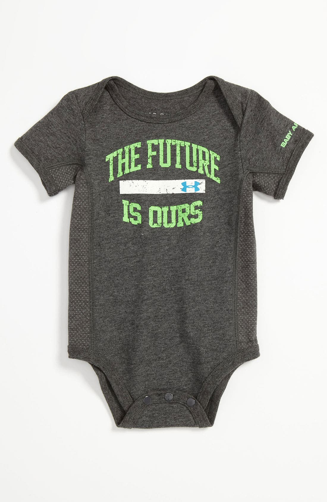Alternate Image 1 Selected - Under Armour 'Future Is Ours' Bodysuit (Infant)