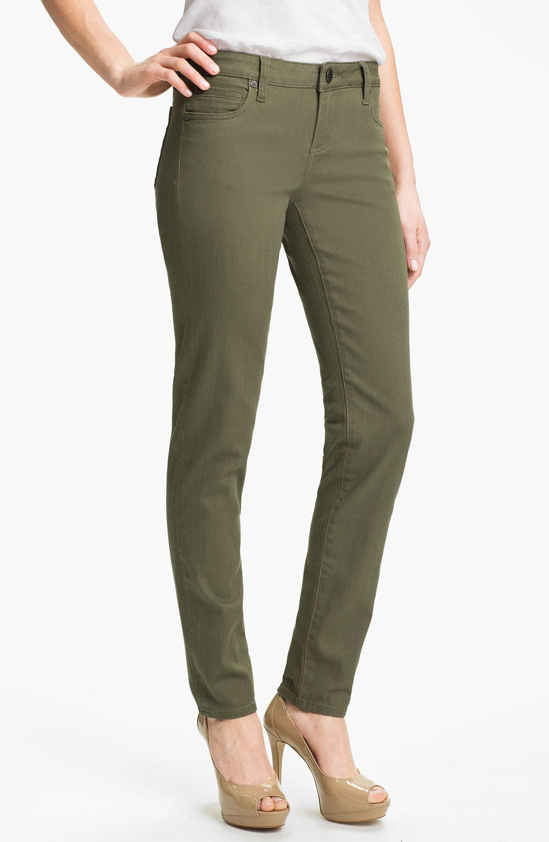 Main Image - KUT from the Kloth 'Diana' Skinny Jeans (Pacific Olive)