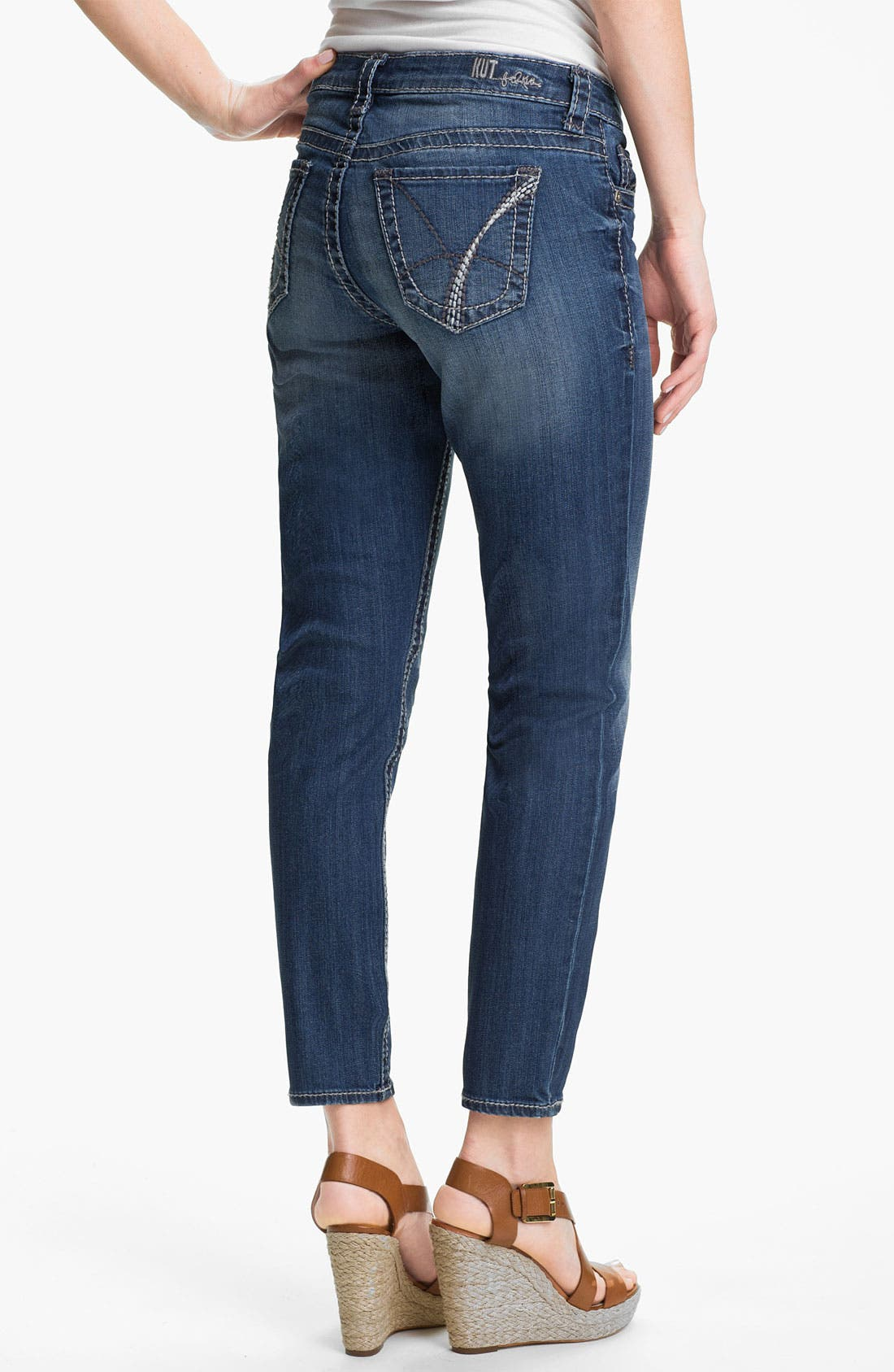 Alternate Image 2  - KUT from the Kloth 'Brigitte' Skinny Ankle Jeans (Exceptional)
