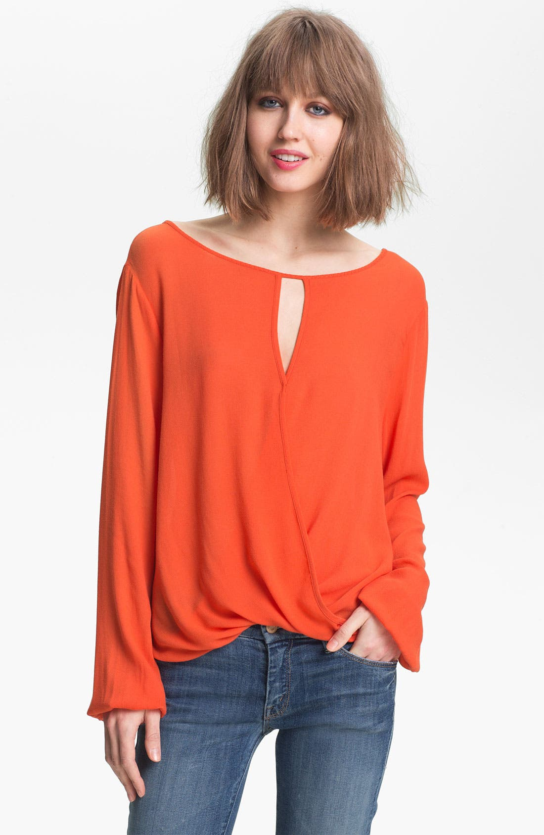 Alternate Image 1 Selected - Ella Moss 'Stella' Keyhole Neck Surplice Top