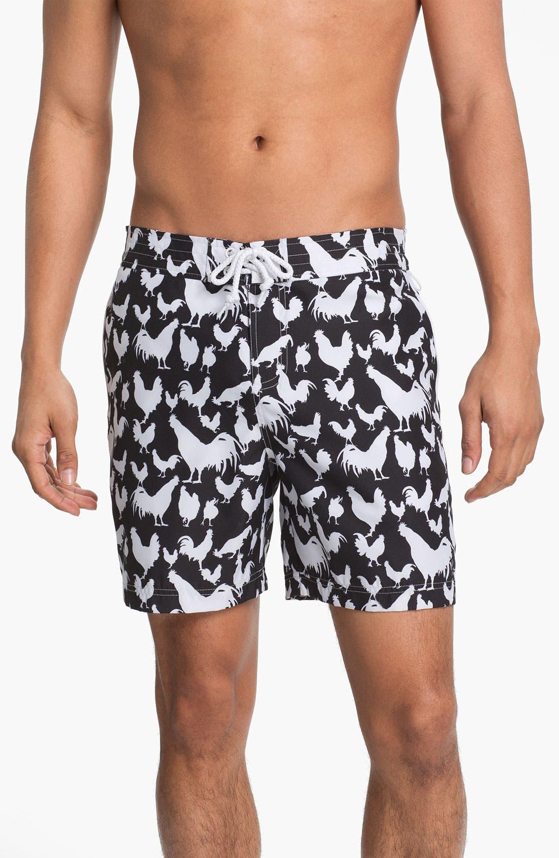 Main Image - Original Penguin Printed Swim Shorts