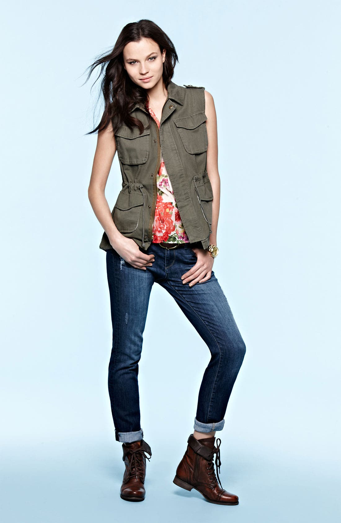 Alternate Image 4  - Paige Denim 'Jimmy Jimmy' Distressed Skinny Jeans (Mandi Destruction)